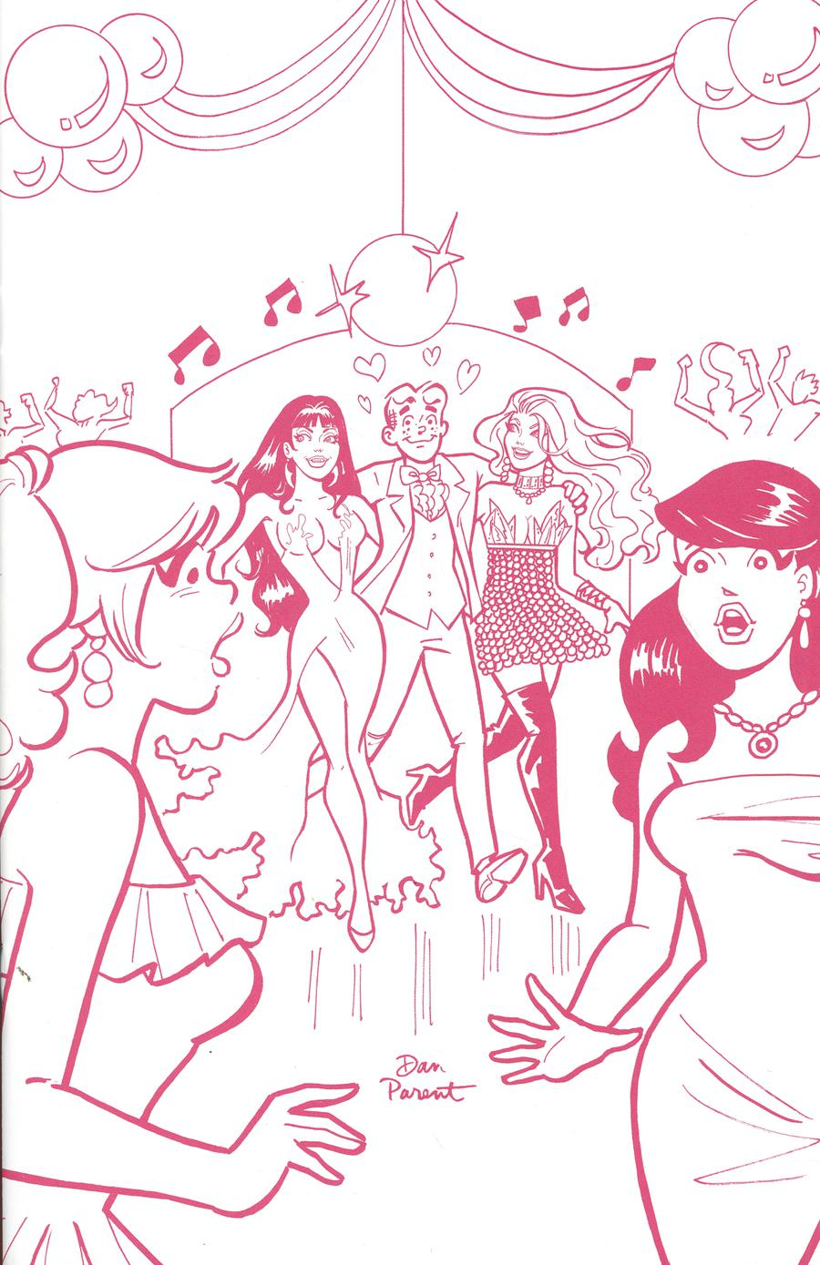 Red Sonja And Vampirella Meet Betty And Veronica #6 Cover I Incentive Dan Parent Pink Tint Virgin Cover