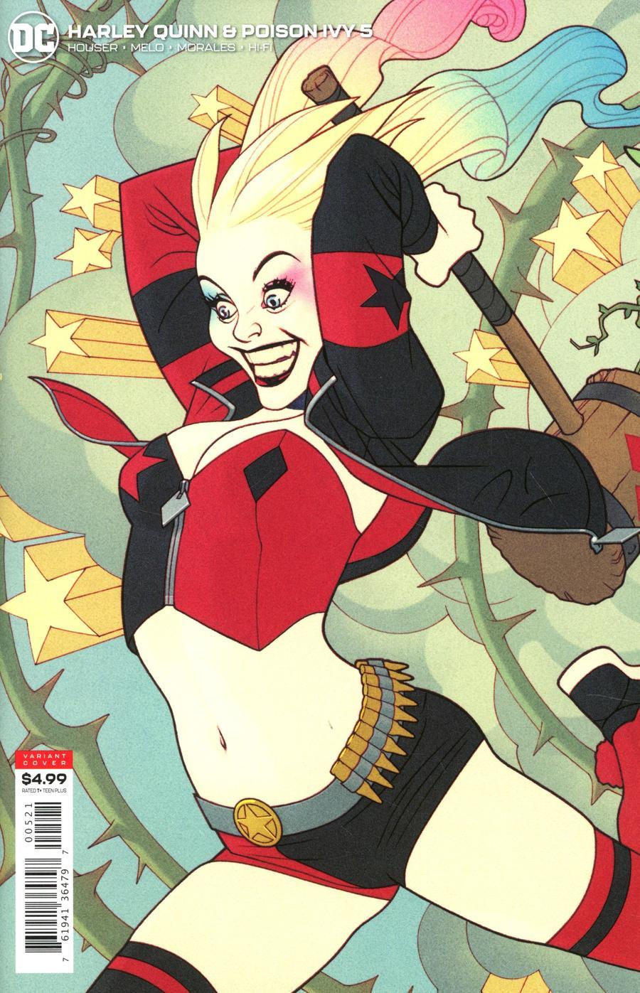 Harley Quinn And Poison Ivy #5 Cover B Variant Joshua Middleton Harley Quinn Card Stock Cover