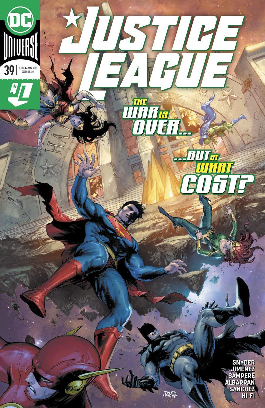 Justice League Vol 4 #39 Cover A Regular Tyler Kirkham Cover