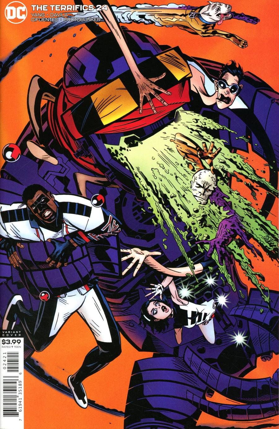 Terrifics #24 Cover B Variant Michael Golden Cover