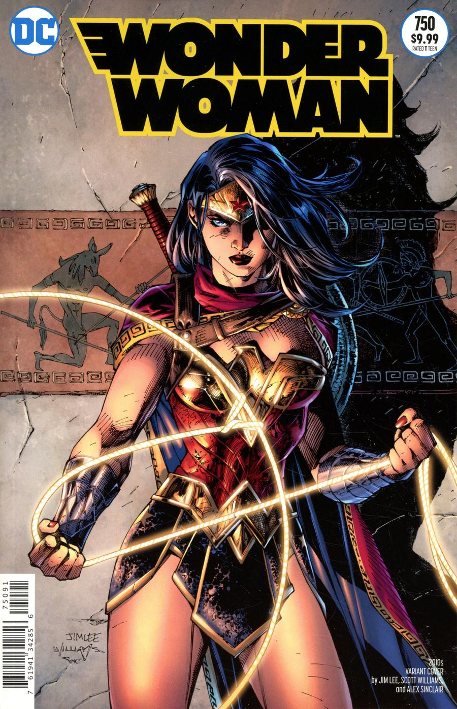 Wonder Woman Vol 5 #750 Cover I Variant Jim Lee & Scott Williams 2010s Cover