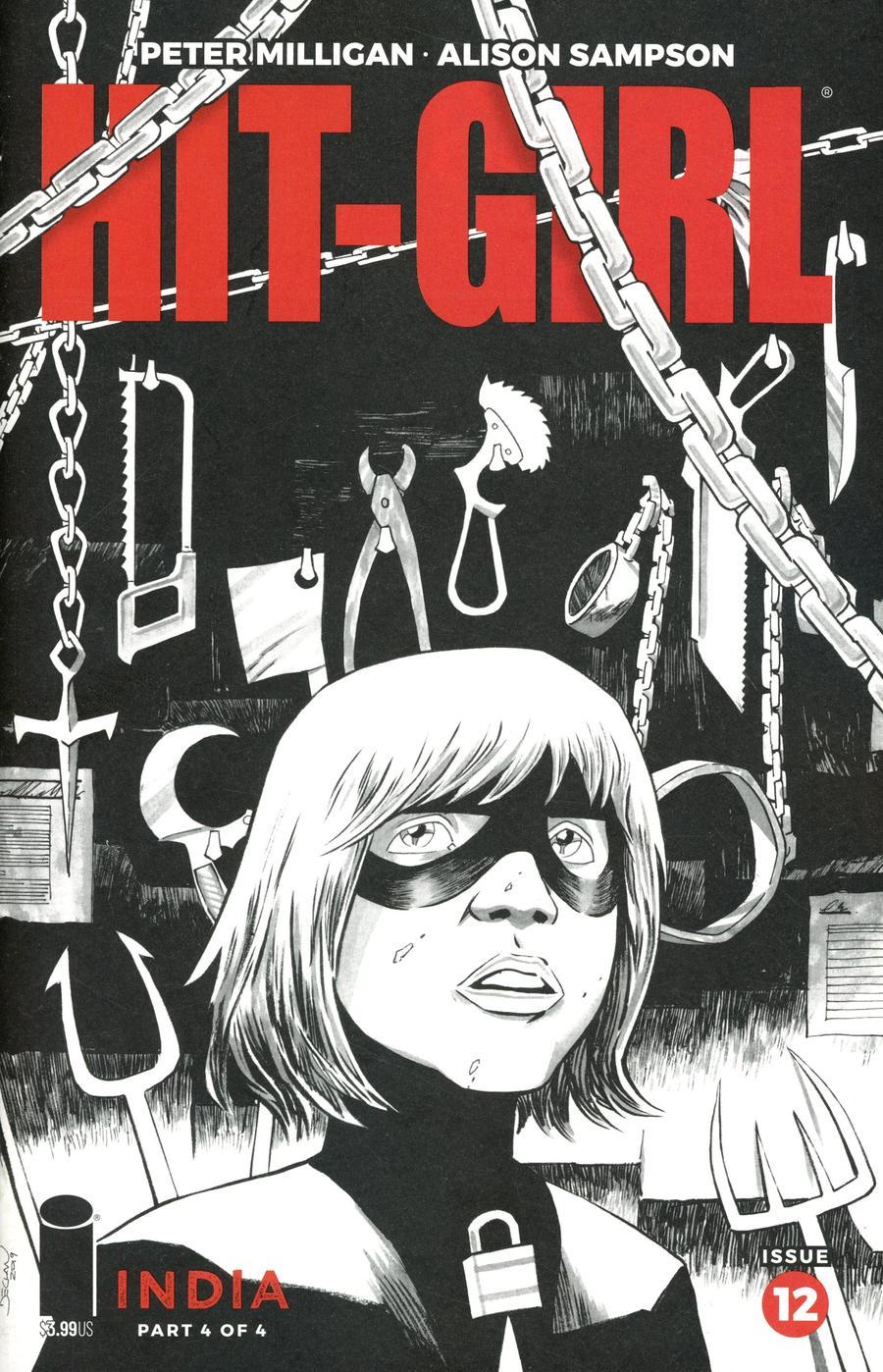 Hit-Girl Vol 2 Season 2 #12 Cover B Variant Declan Shalvey Sketch Cover