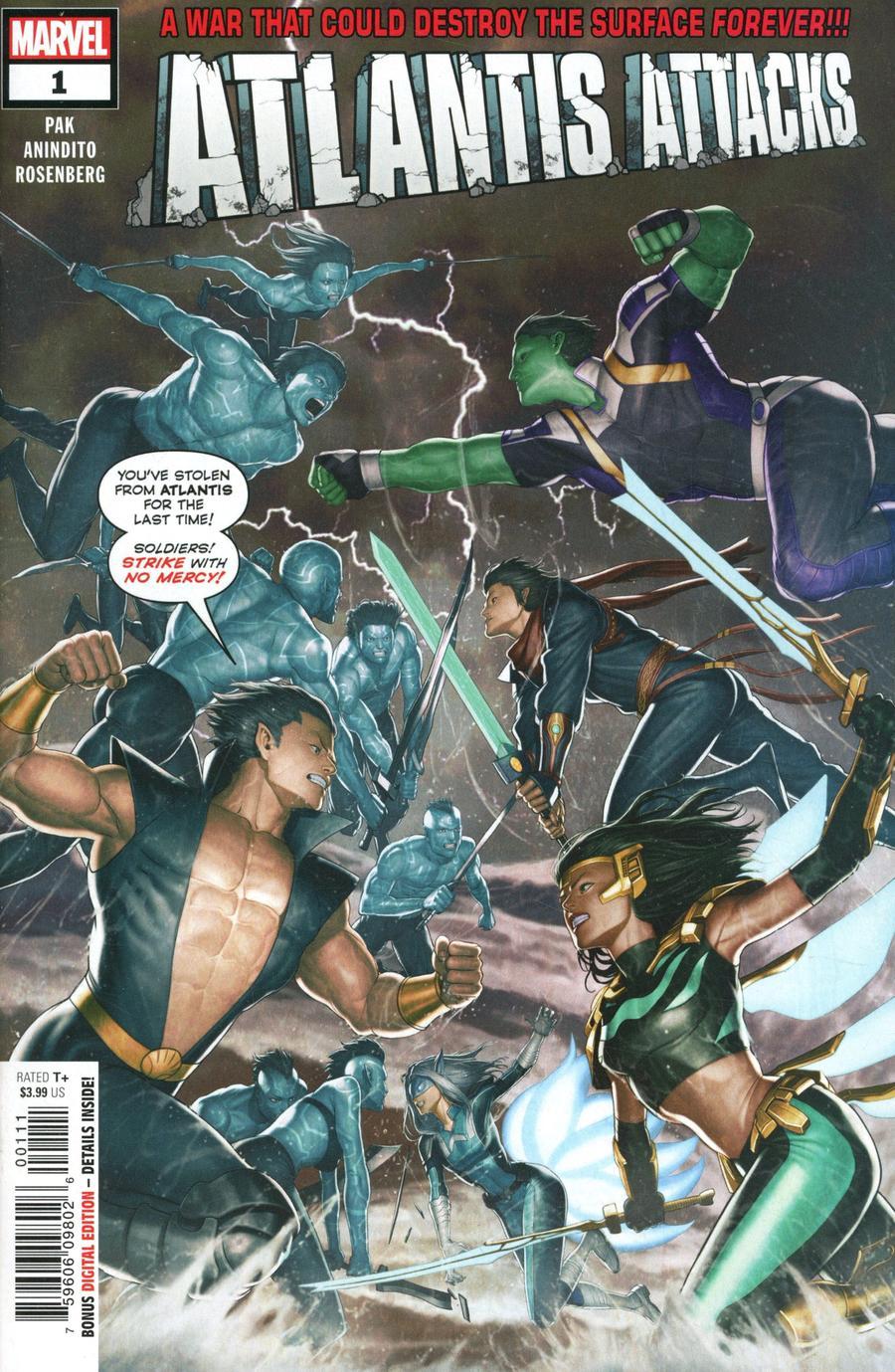 Atlantis Attacks #1 Cover A Regular Rock-He Kim Cover
