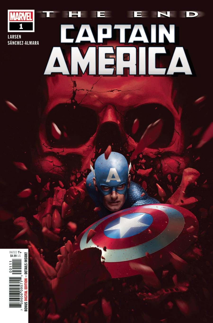 Captain America The End One Shot Cover A Regular Rahzzah Cover