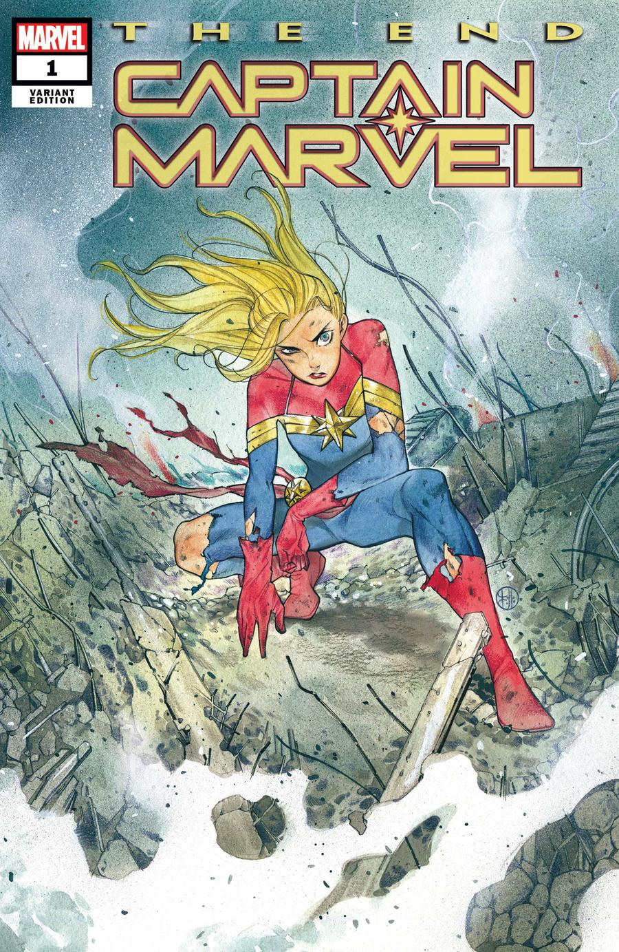 Captain Marvel The End One Shot Cover B Variant Peach Momoko Cover