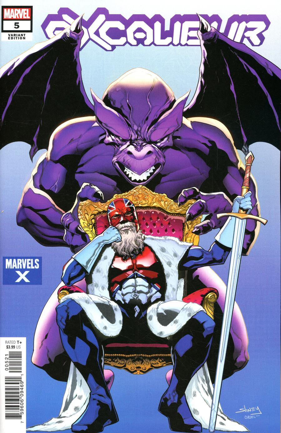 Excalibur Vol 4 #5 Cover B Variant Will Sliney Marvels X Cover (Dawn Of X Tie-In)