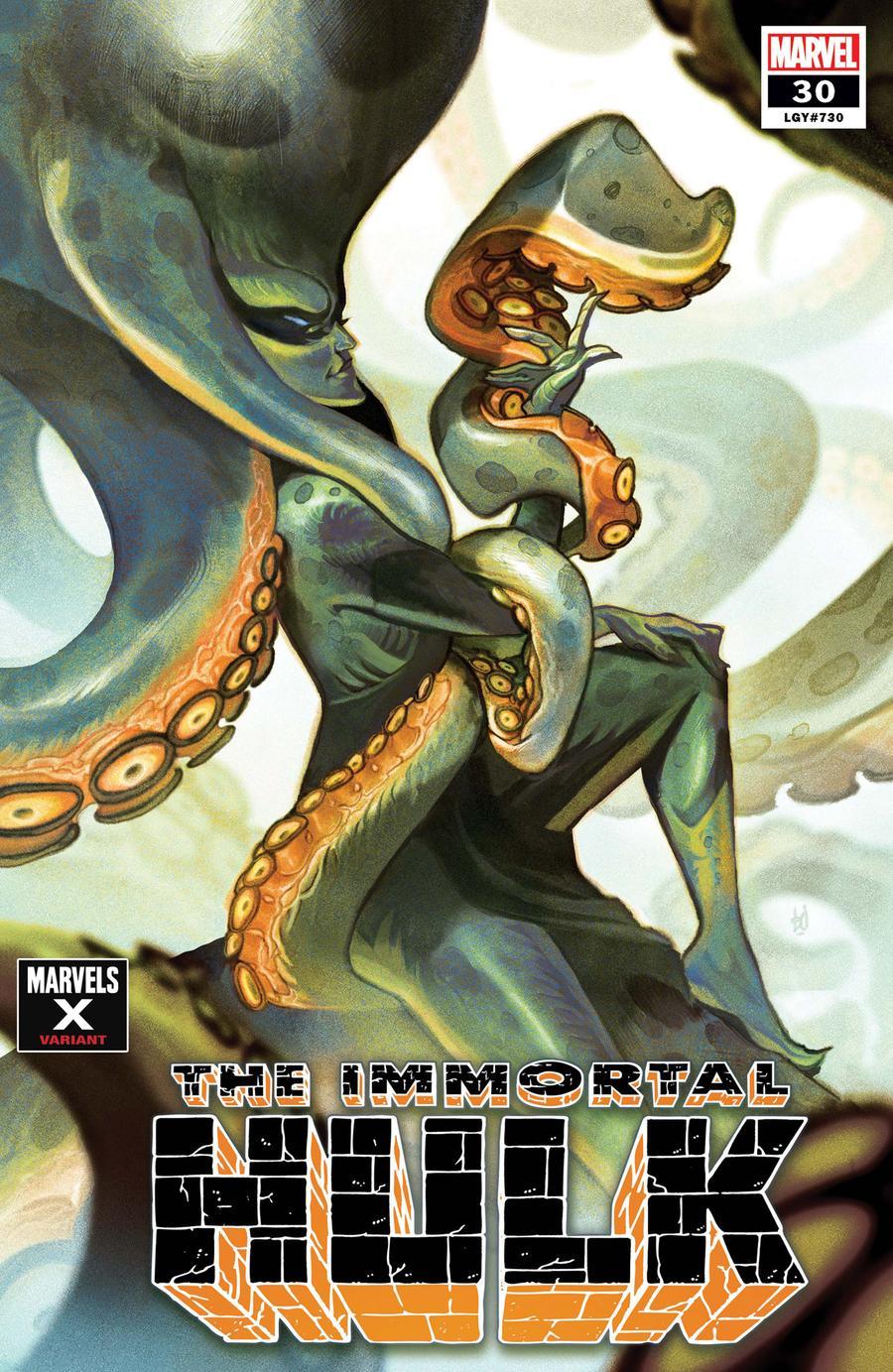 Immortal Hulk #30 Cover B Variant Mike Del Mundo Marvels X Cover