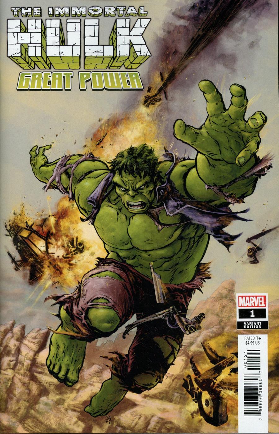 Immortal Hulk Great Power One Shot Cover B Variant Max Fiumara Cover
