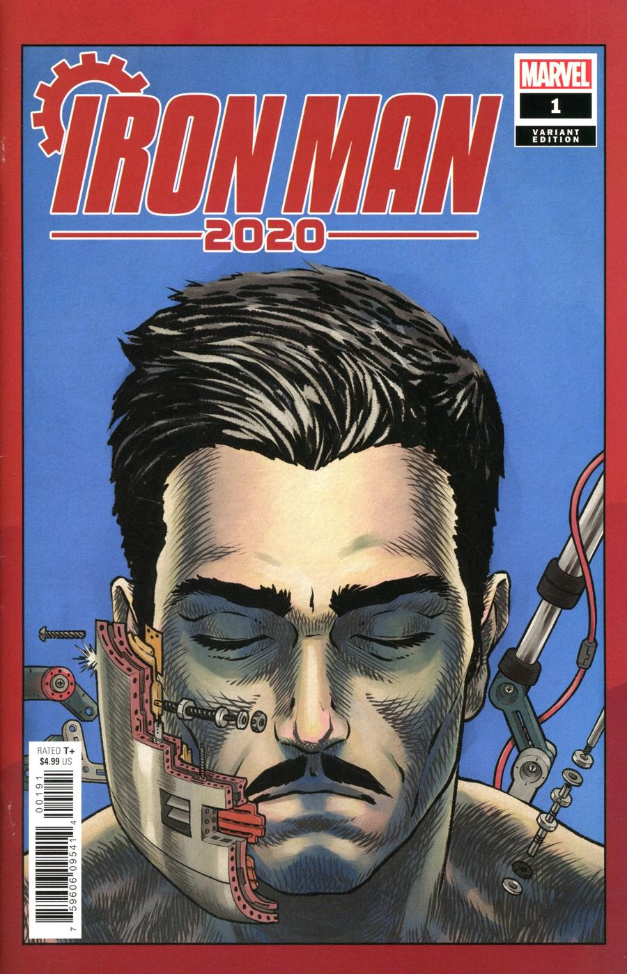 Iron Man 2020 #1 Cover E Variant Superlog Heads Cover