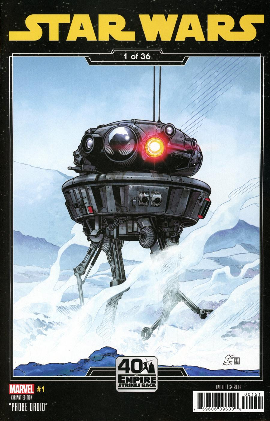 Star Wars Vol 5 #1 Cover B Variant Chris Sprouse Empire Strikes Back Cover