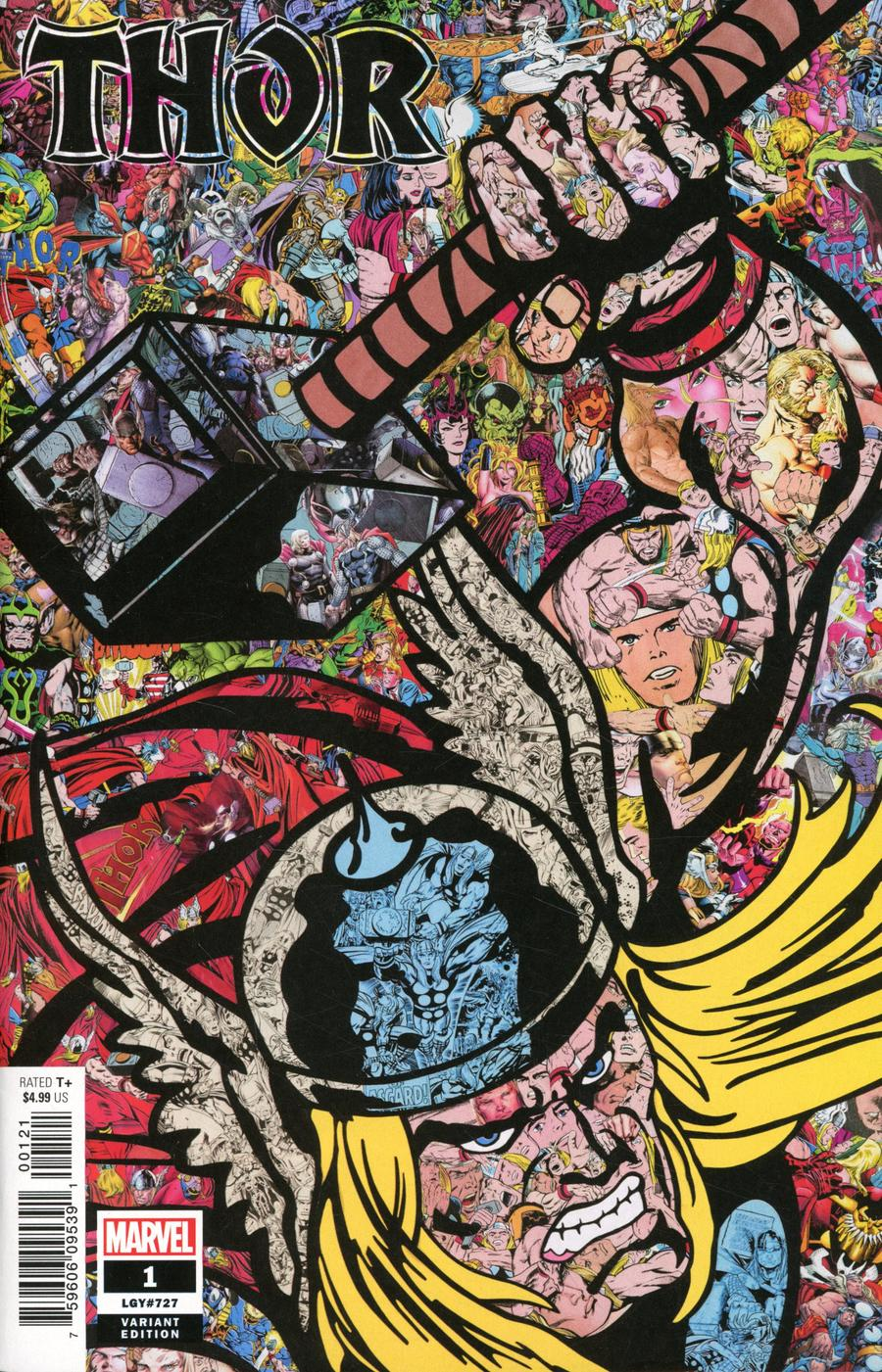 Thor Vol 6 #1 Cover C Variant Mr Garcin Collage Cover