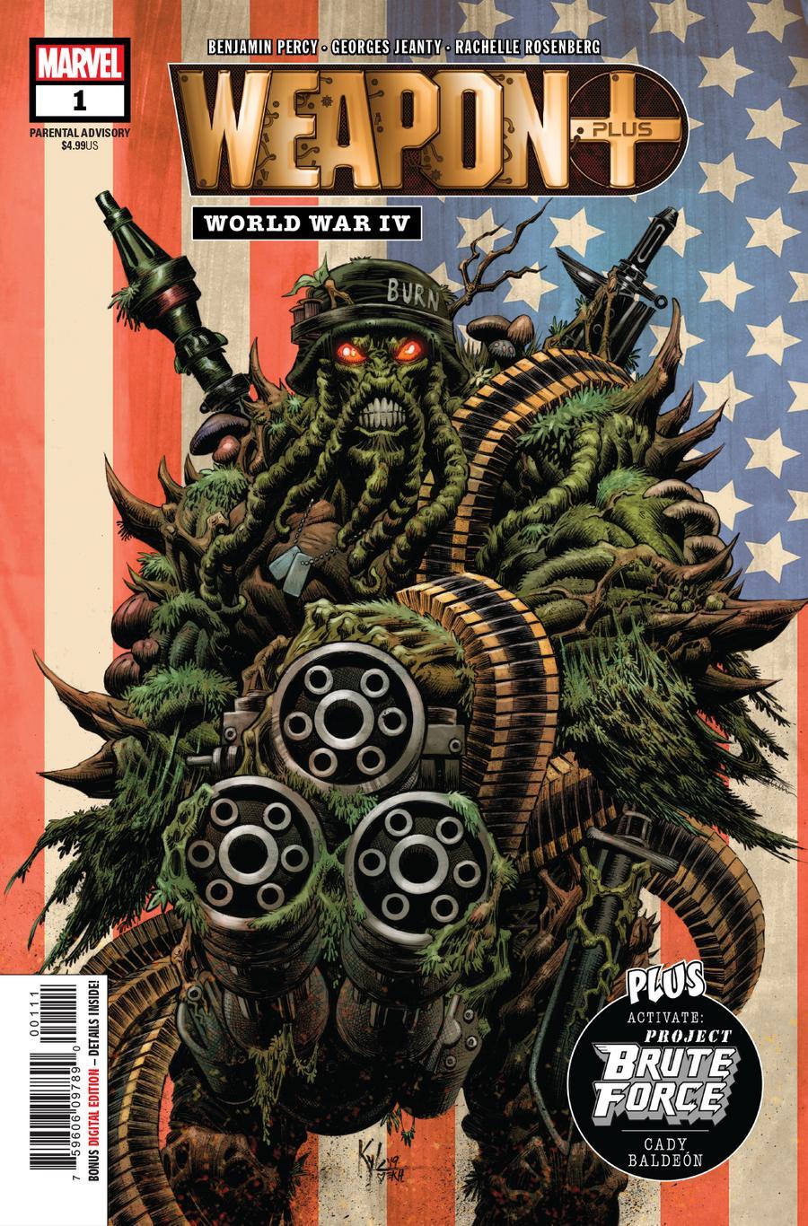 Weapon Plus World War IV Cover A 1st Ptg Regular Kyle Hotz Cover