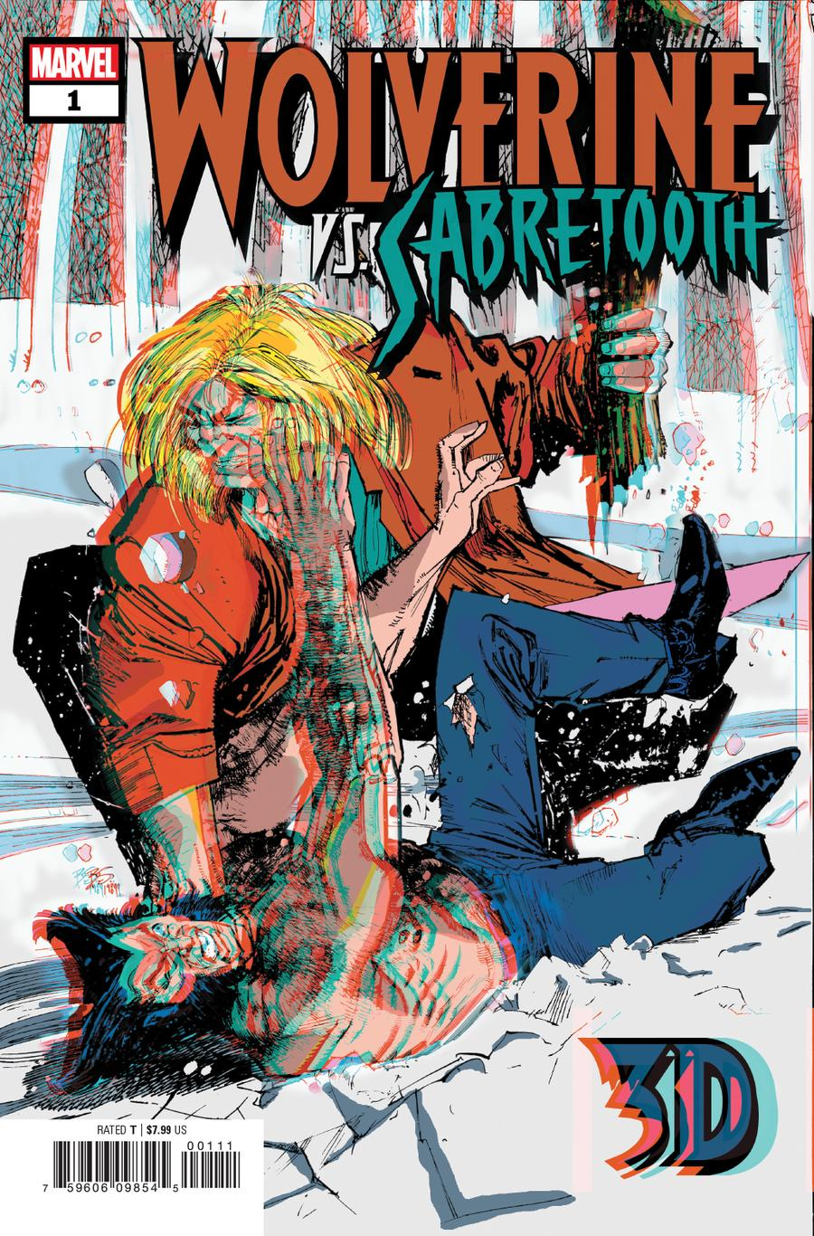 Wolverine vs Sabretooth 3D #1 Cover A With Polybag