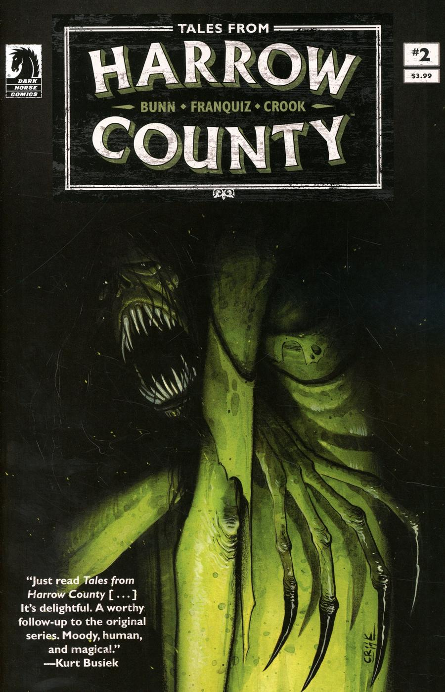 Tales From Harrow County Deaths Choir #2 Cover B Variant Tyler Crook Cover