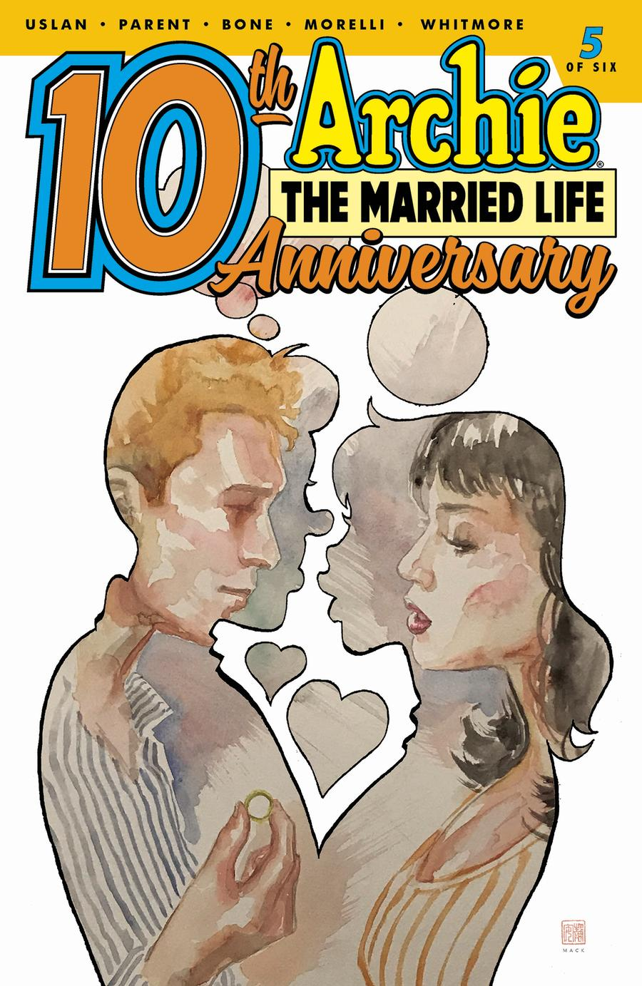 Archie The Married Life 10th Anniversary #5 Cover B Variant David Mack Cover