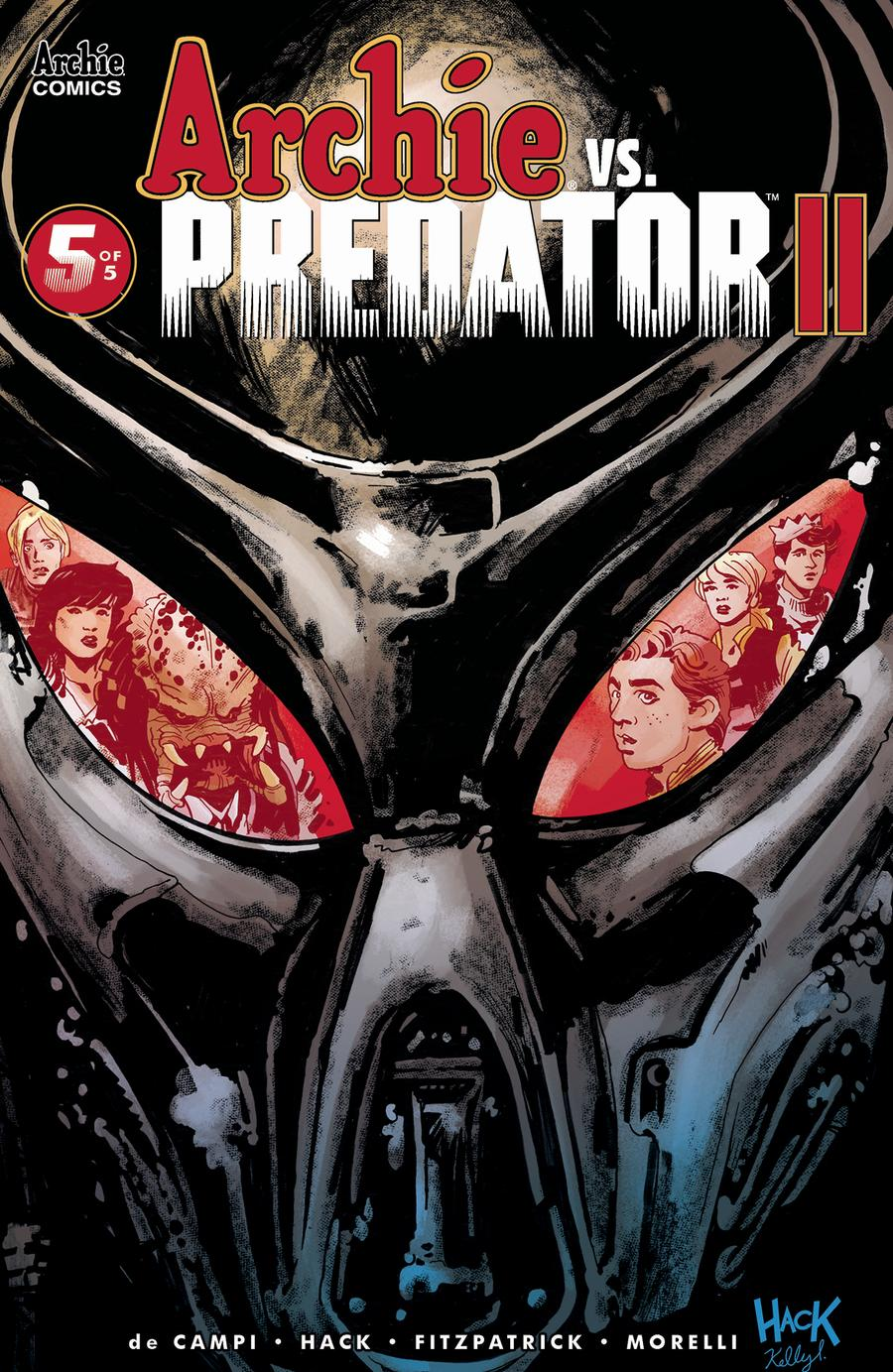 Archie vs Predator II #5 Cover A Regular Robert Hack & Kelly Fitzpatrick Cover