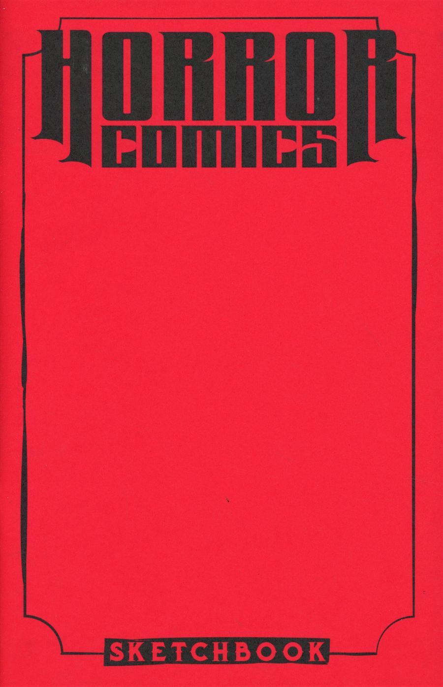 Horror Comics Sketchbook One Shot Cover C Variant Blood Dead Cover
