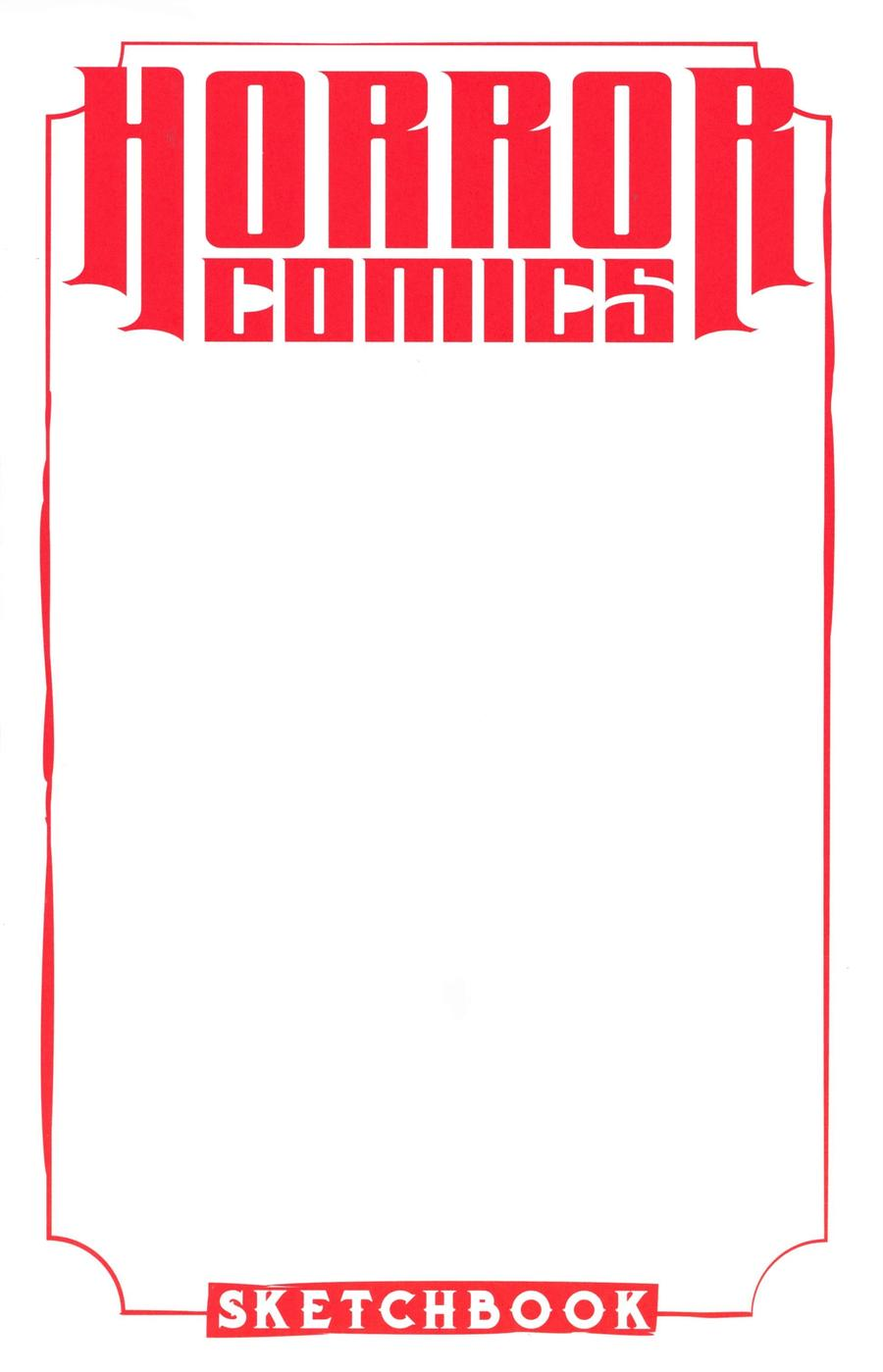 Horror Comics Sketchbook One Shot Cover A Regular Virgin White Cover