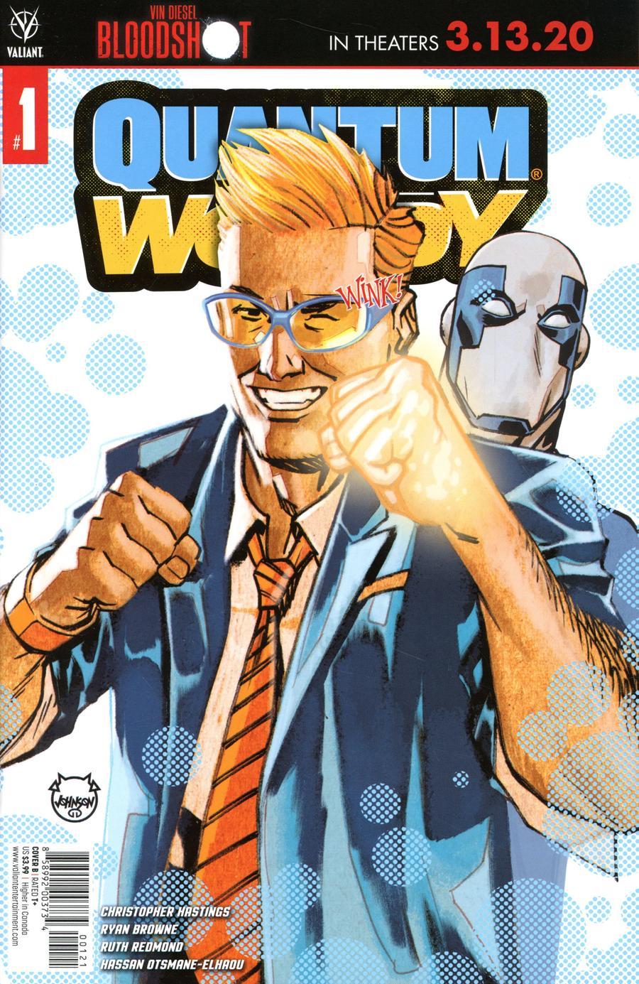 Quantum & Woody Vol 5 #1 Cover B Variant Dave Johnson Cover