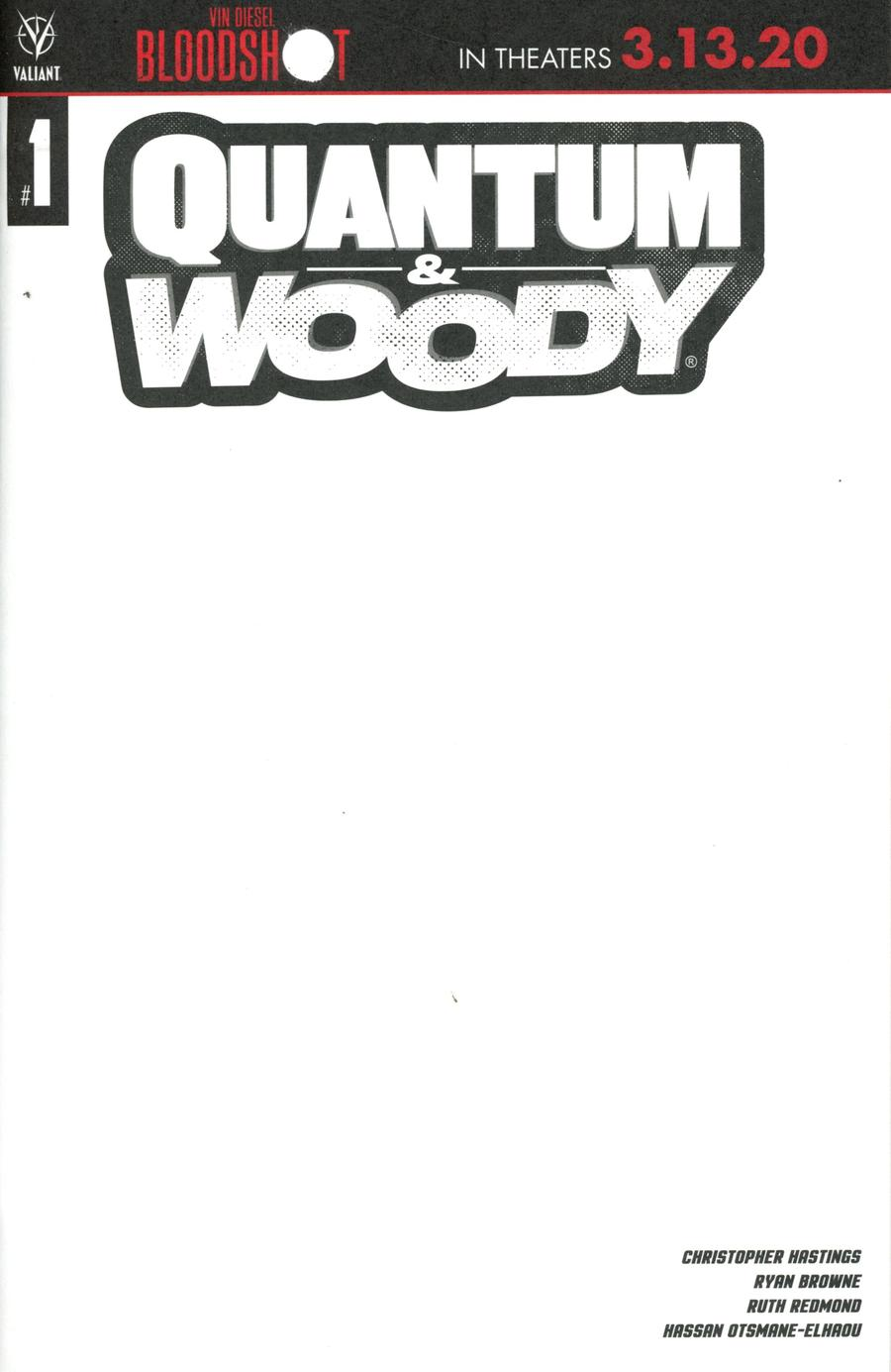 Quantum & Woody Vol 5 #1 Cover D Variant Blank Cover