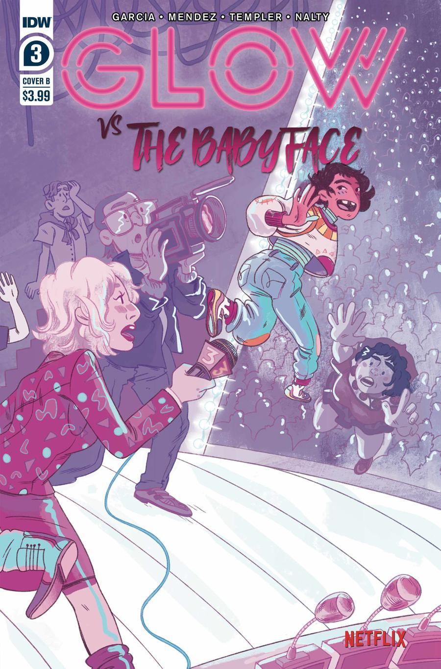 GLOW vs The Babyface #3 Cover B Variant Nicole Goux Cover