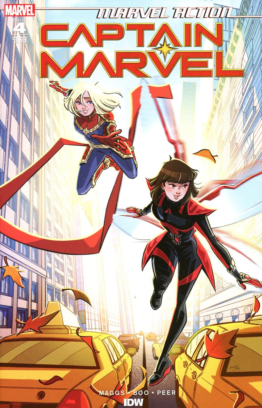 Marvel Action Captain Marvel #4 Cover A Regular Sweeney Boo Cover