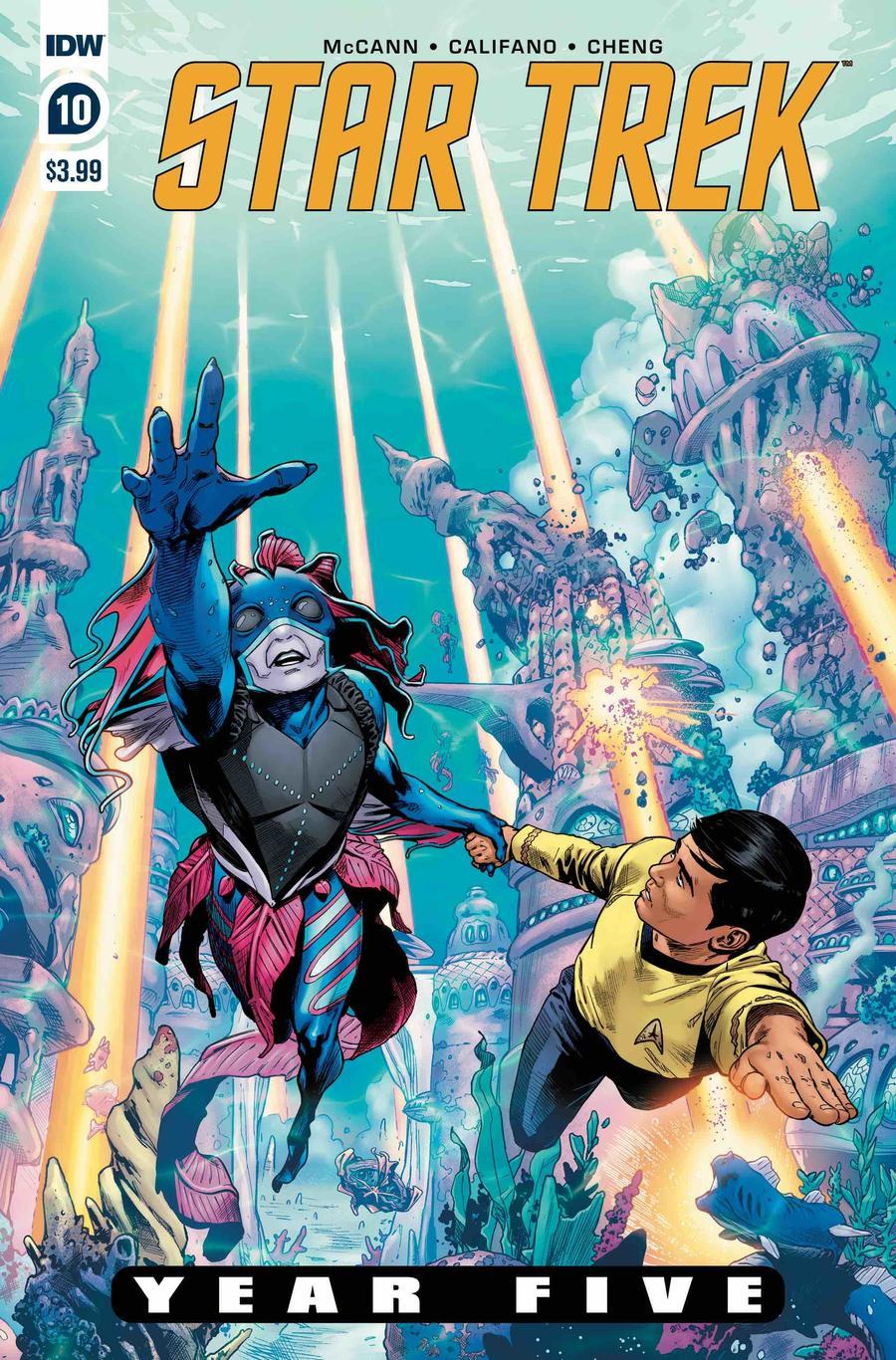 Star Trek Year Five #10 Cover A Regular Stephen Thompson Cover