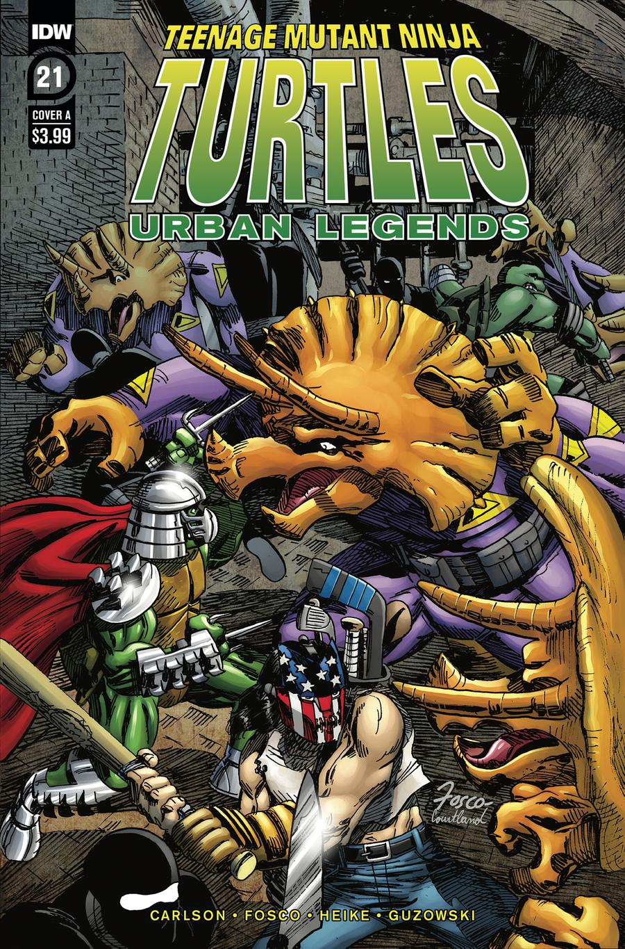 Teenage Mutant Ninja Turtles Urban Legends #21 Cover A Regular Frank Fosco Cover