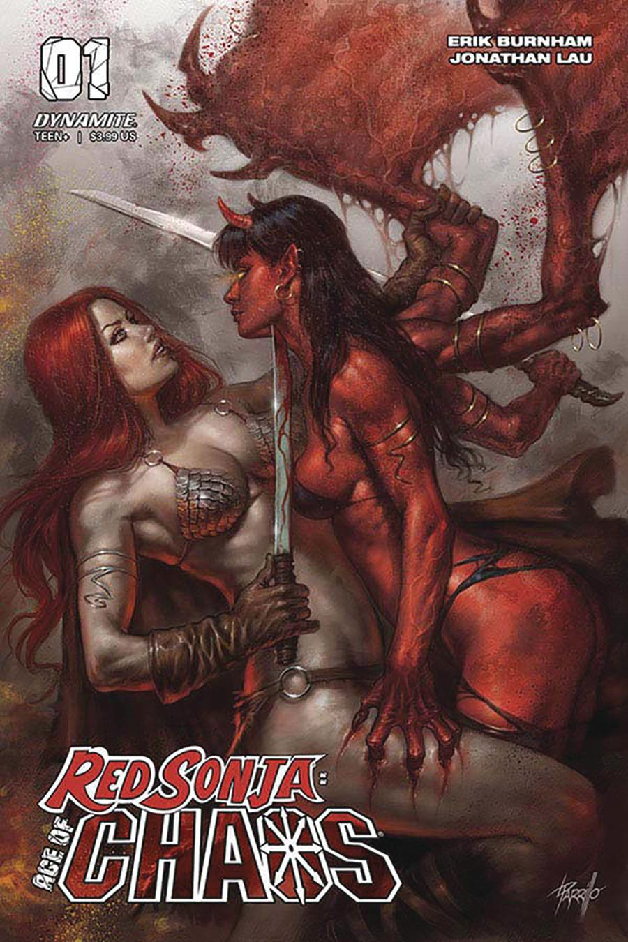 Red Sonja Age Of Chaos #1 Cover A Regular Lucio Parrillo Cover