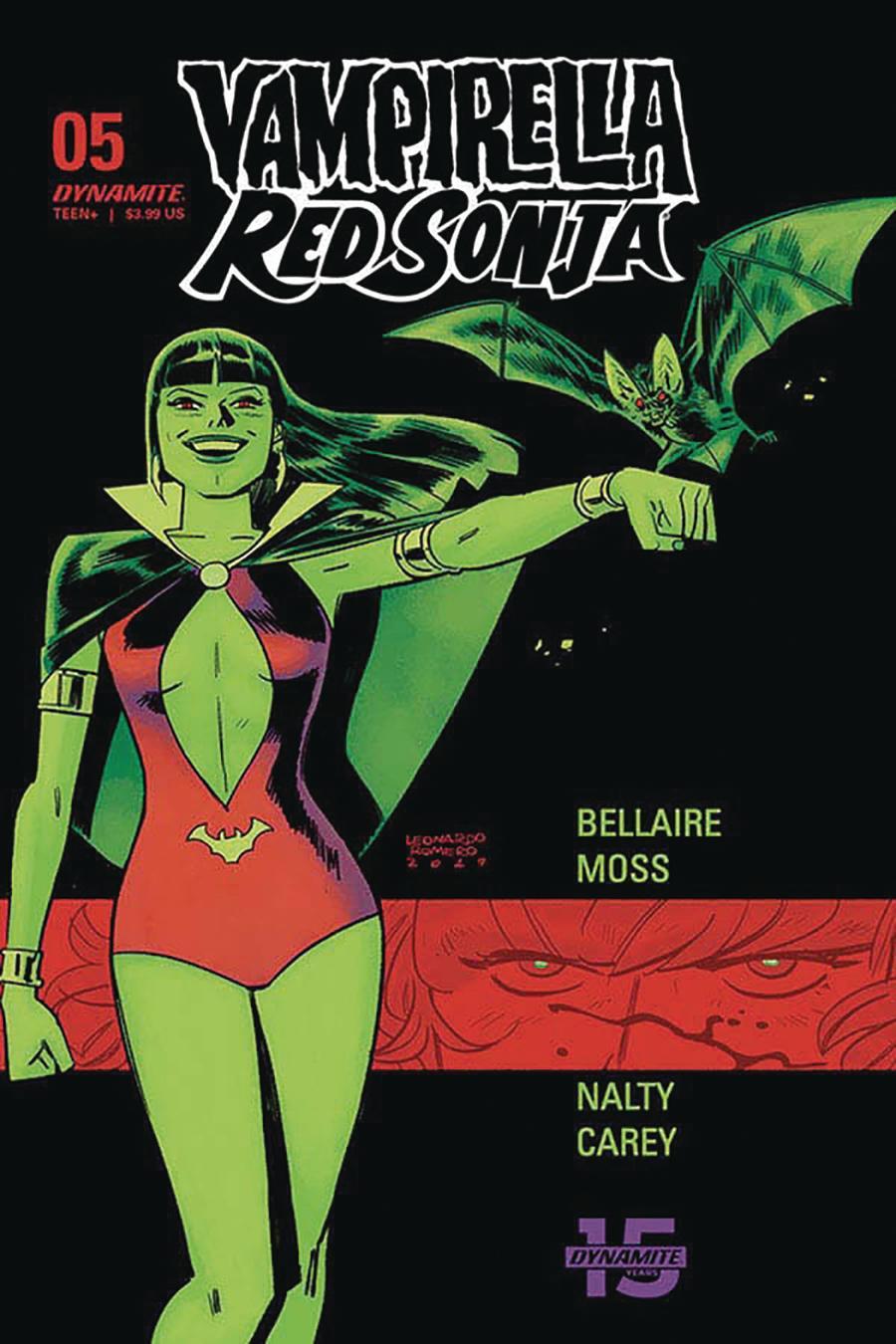Vampirella Red Sonja #5 Cover D Variant Leonardo Romero & Jordie Bellaire Cover