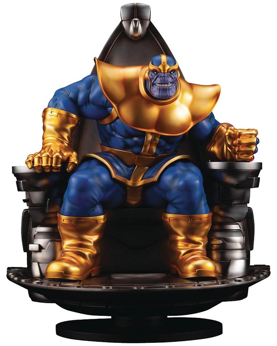 Marvel Thanos On Space Throne Fine Art Statue