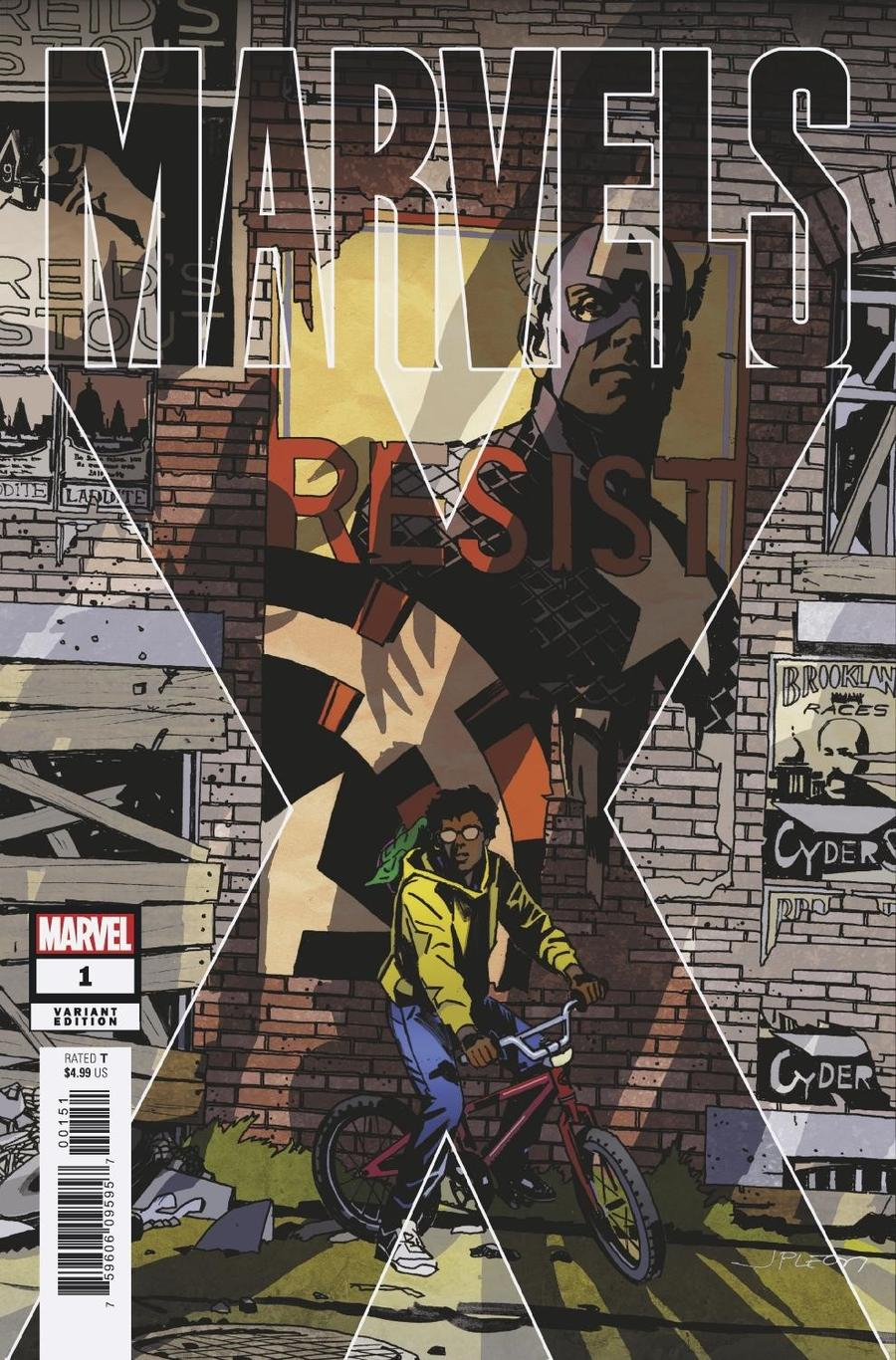Marvels X #1 Cover B Variant John Paul Leon Party Cover