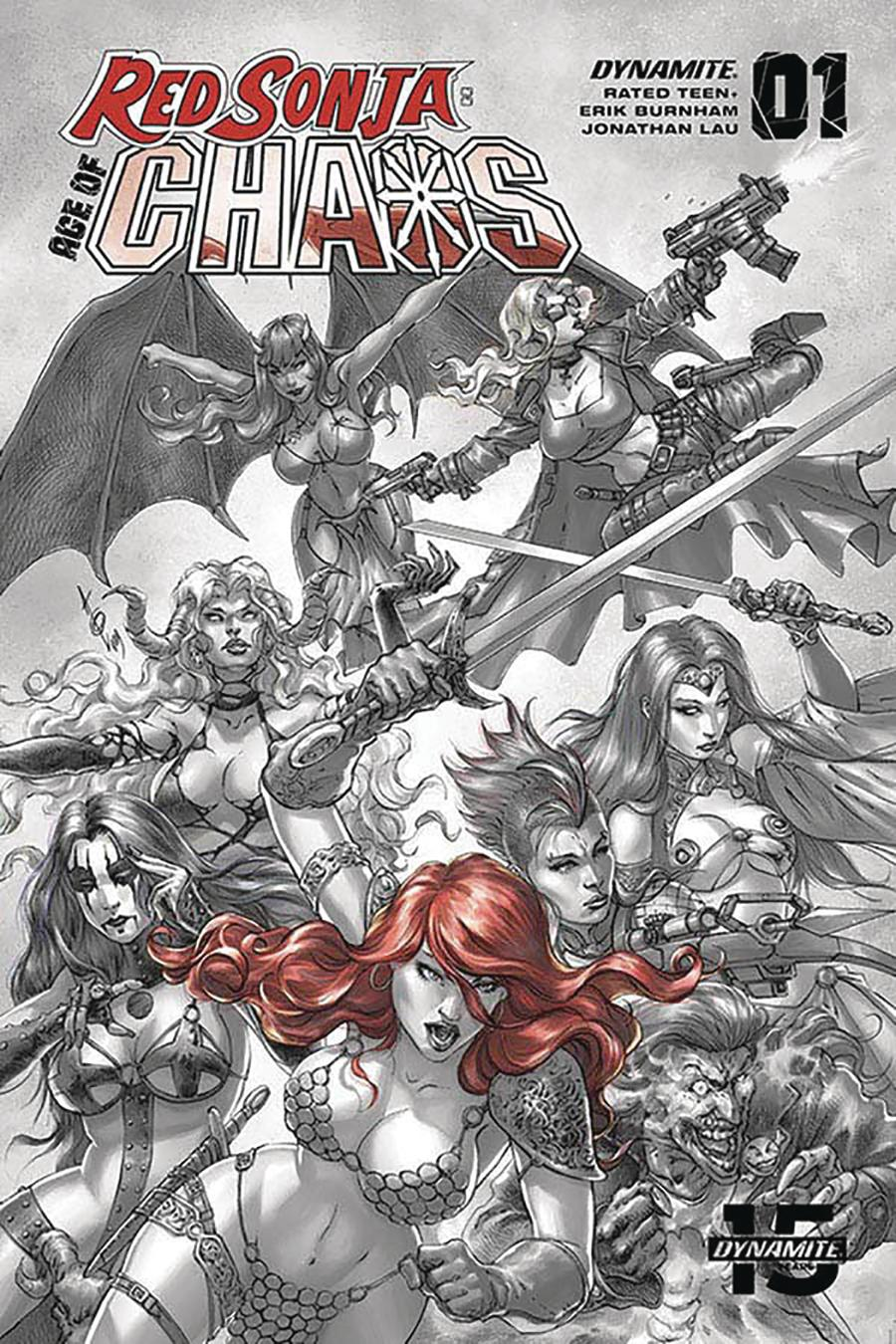 Red Sonja Age Of Chaos #1 Cover T Incentive Alan Quah Hellfire Red Tinted Cover