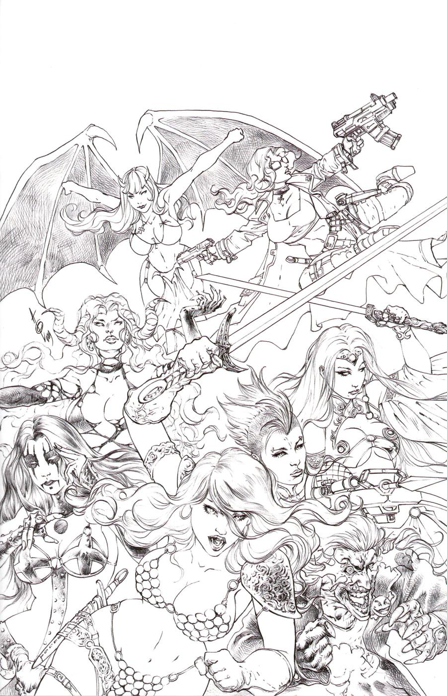 Red Sonja Age Of Chaos #1 Cover U Incentive Alan Quah Sketch Virgin Cover