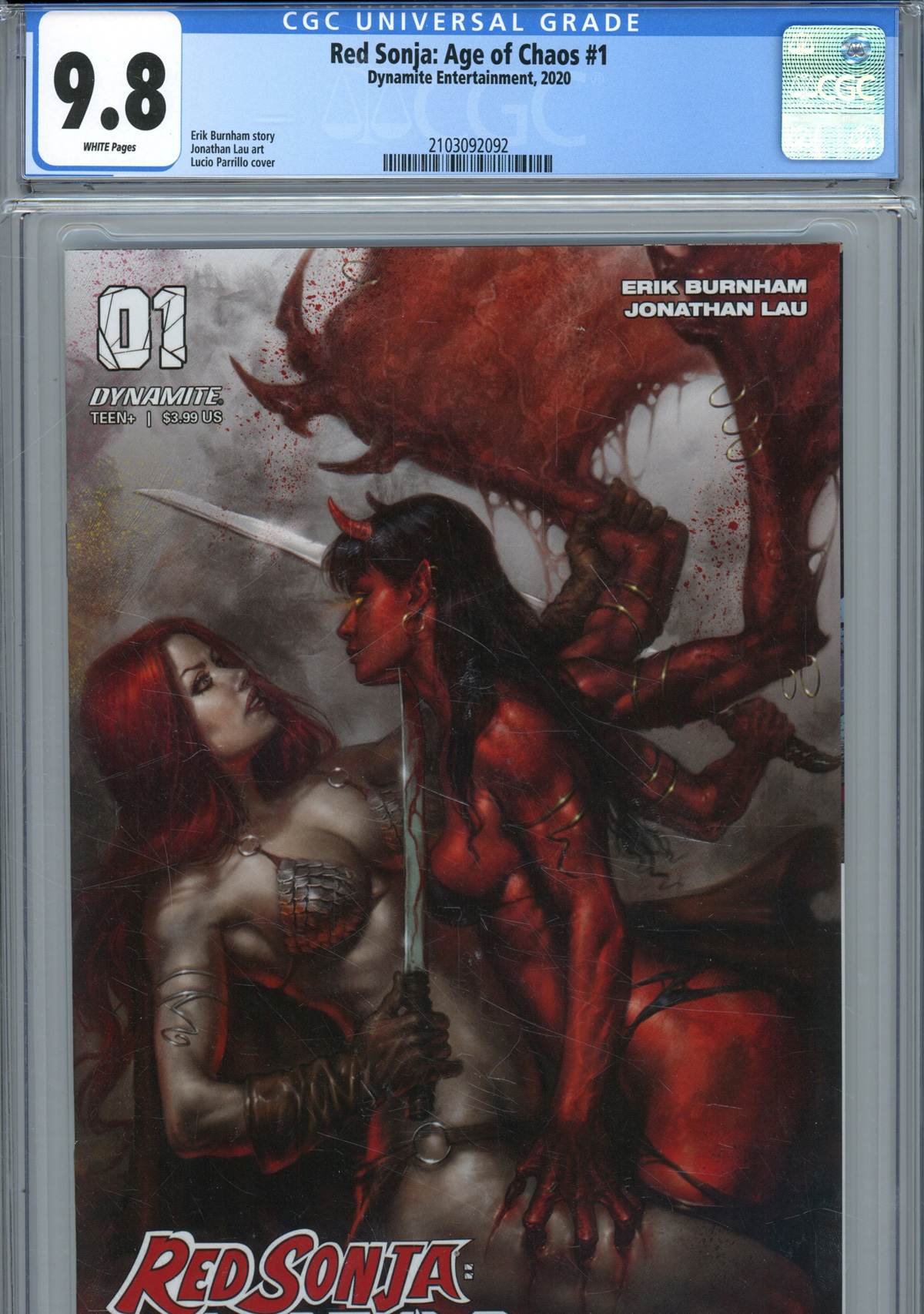 Red Sonja Age Of Chaos #1 Cover Z-E Regular Lucio Parrillo Cover CGC Graded