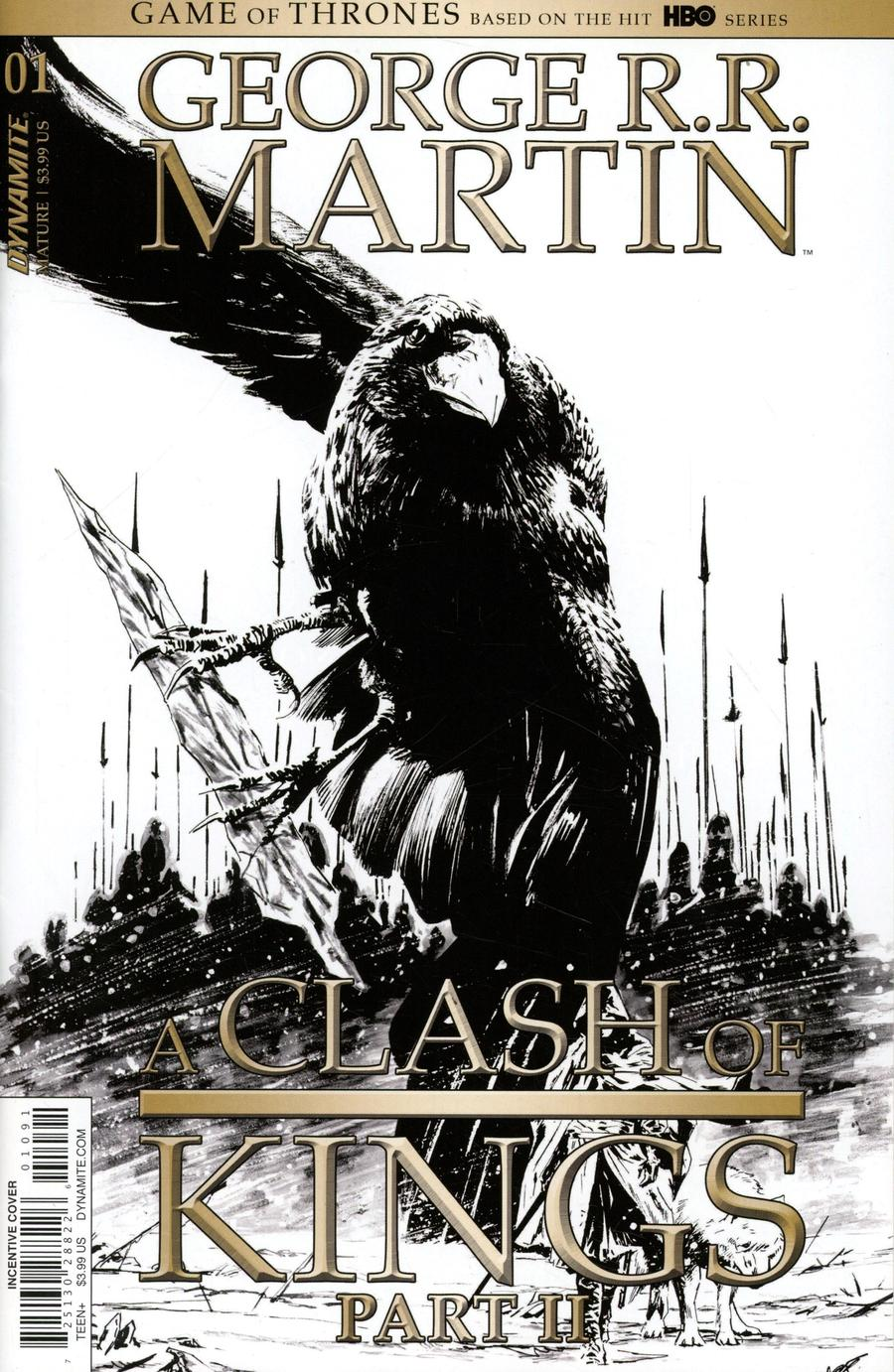 Game Of Thrones Clash Of Kings Vol 2 #1 Cover I Incentive Butch Guice Black & White Cover