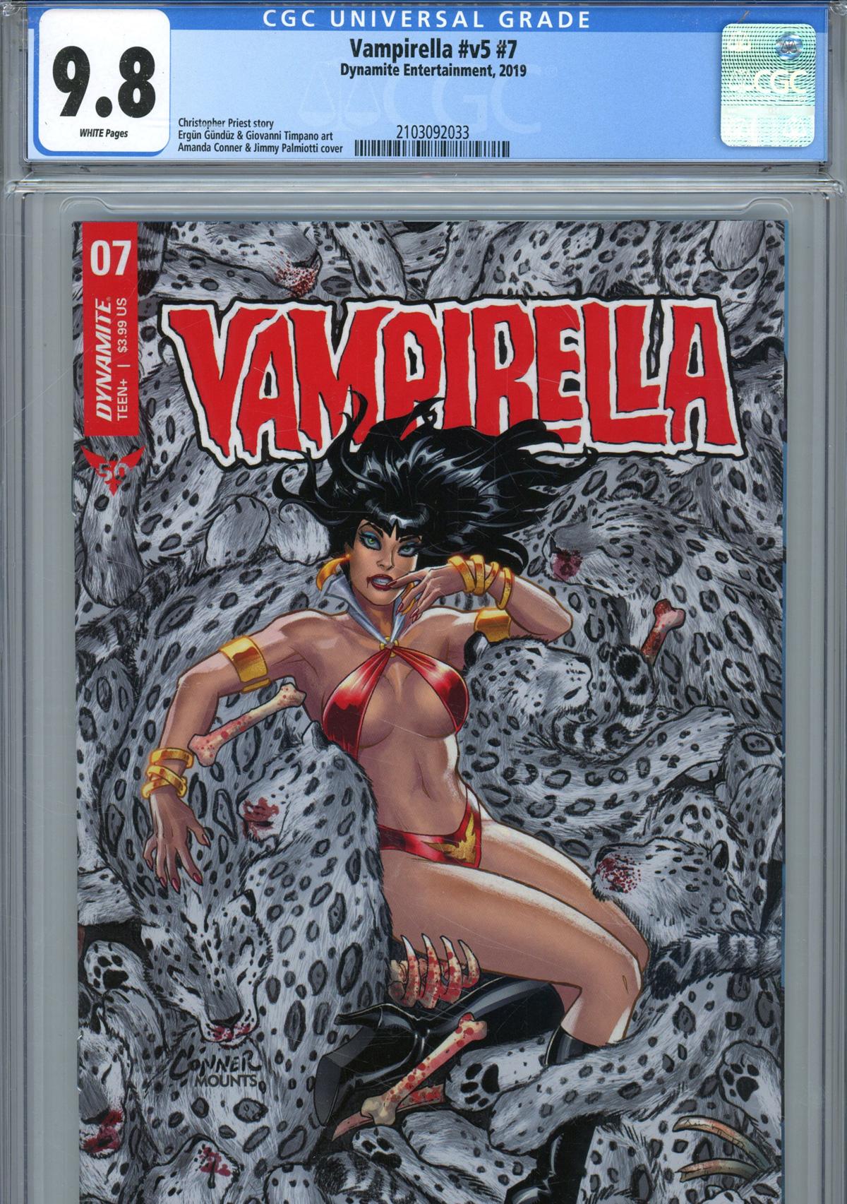 Vampirella Vol 8 #7 Cover Y Regular Amanda Conner Cover CGC Graded