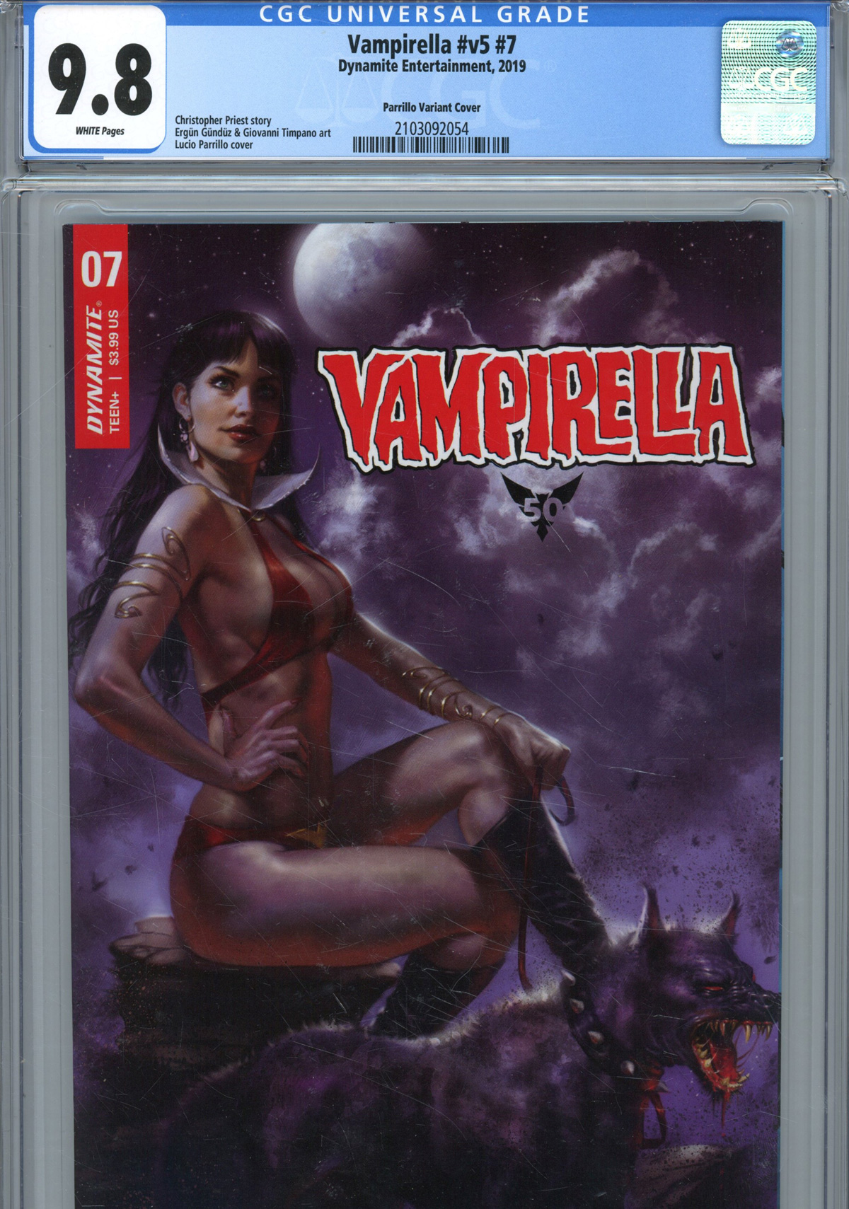 Vampirella Vol 8 #7 Cover Z Incentive Lucio Parrillo Variant Cover CGC Graded