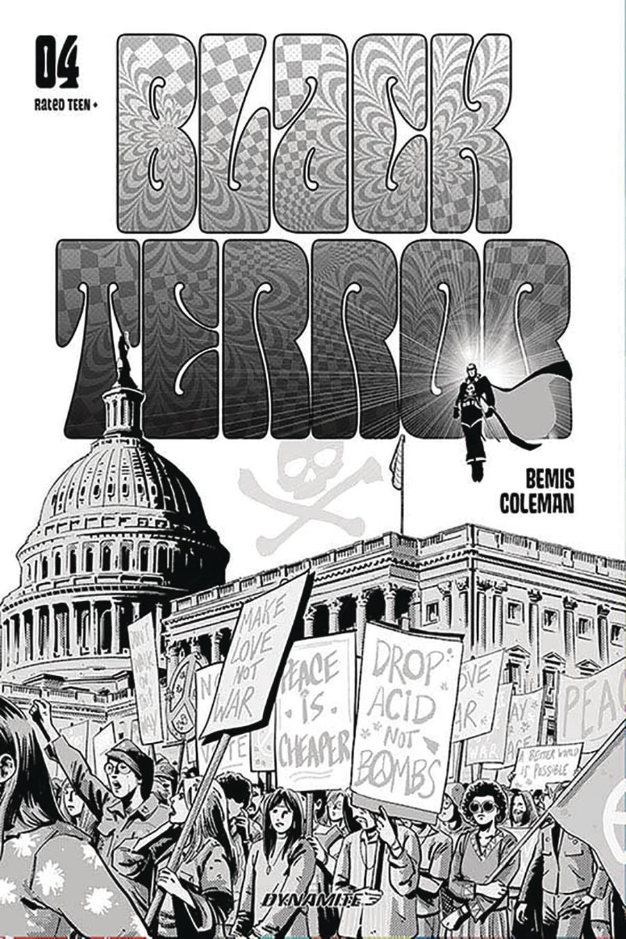 Black Terror Vol 4 #4 Cover E Incentive Jorge Fornes Black & White Cover