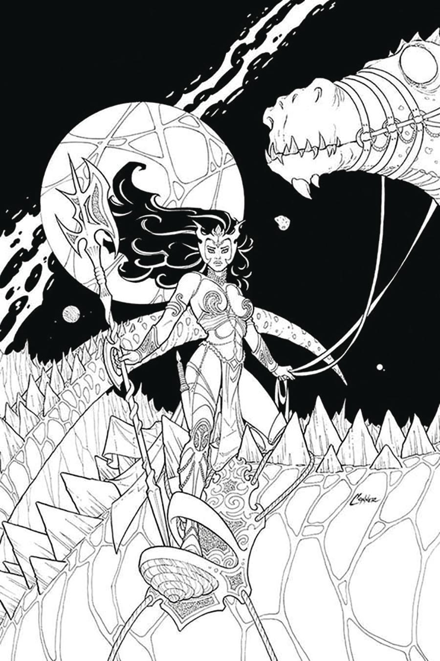 Dejah Thoris Vol 3 #2 Cover N Incentive Amanda Conner Black & White Virgin Cover