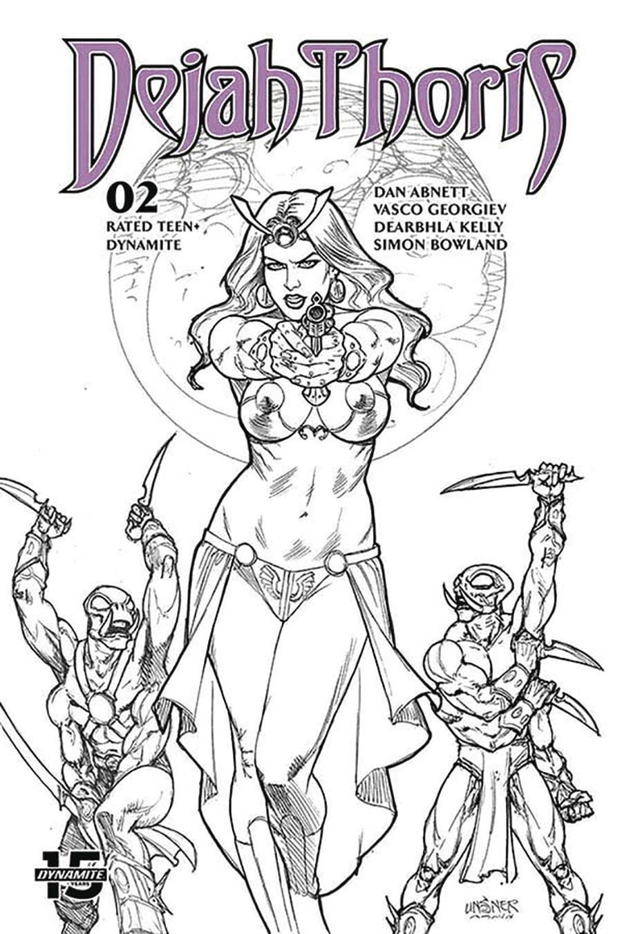 Dejah Thoris Vol 3 #2 Cover P Incentive Joseph Michael Linsner Black & White Cover