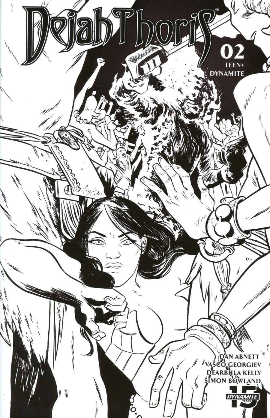 Dejah Thoris Vol 3 #2 Cover Q Incentive Erica Henderson Black & White Cover