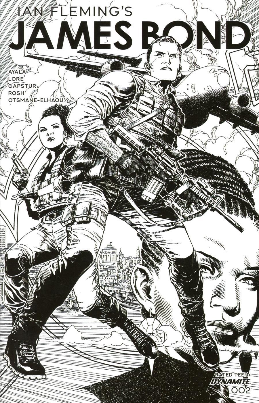 James Bond Vol 3 #2 Cover B Incentive Jim Cheung Black & White Cover