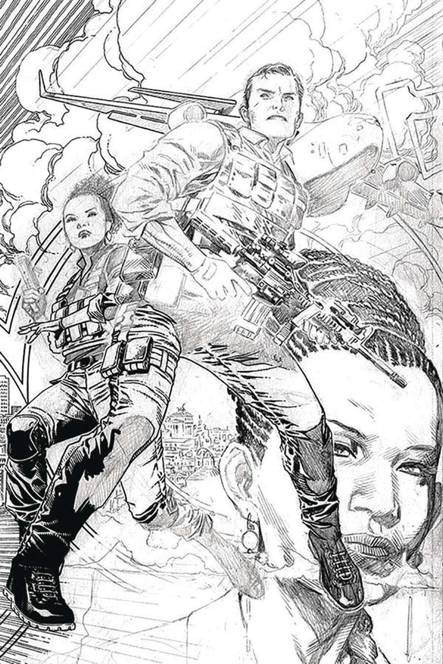James Bond Vol 3 #2 Cover E Incentive Jim Cheung Pencil Sketch Cover