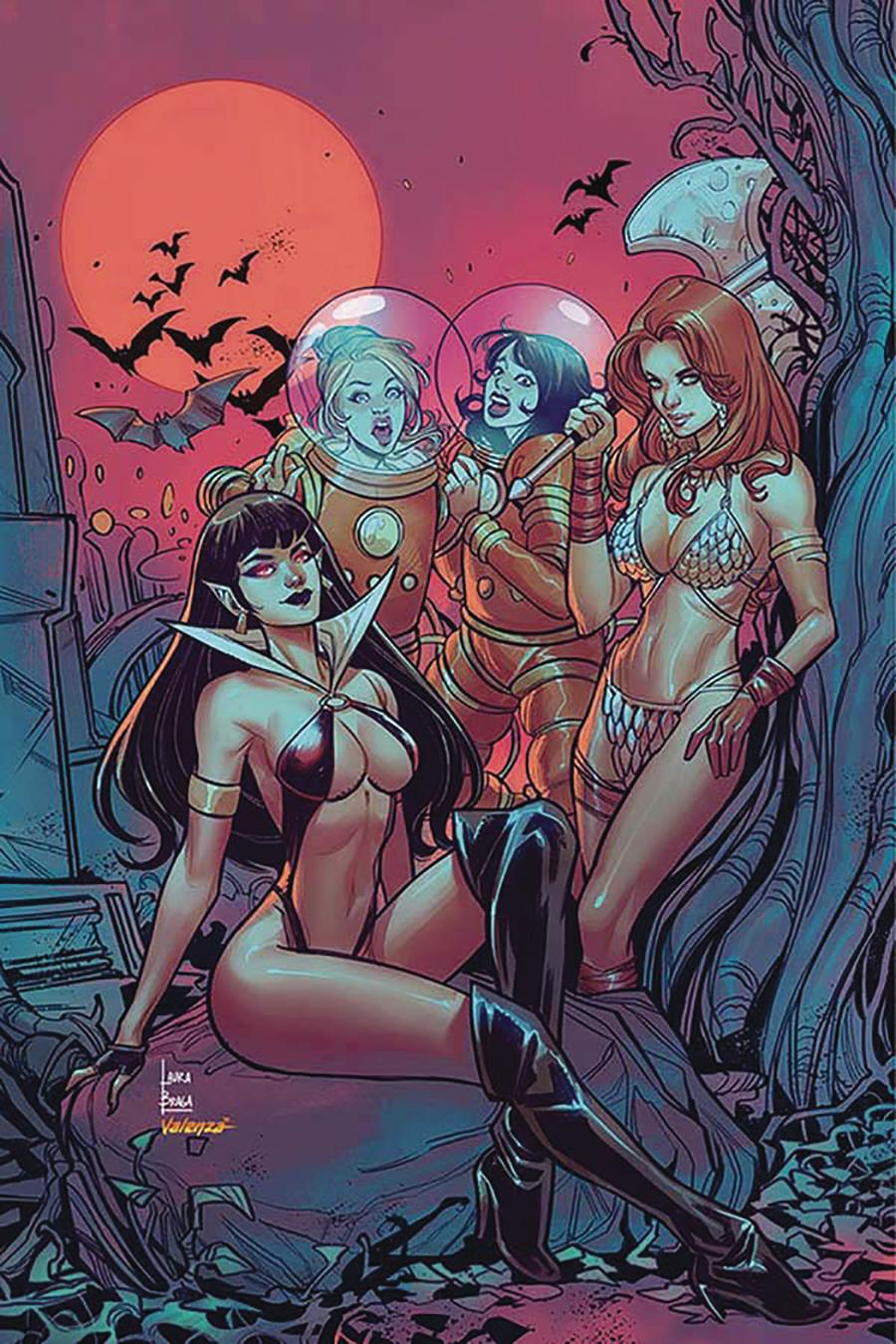 Red Sonja And Vampirella Meet Betty And Veronica #8 Cover L Incentive Laura Braga Virgin Color Cover