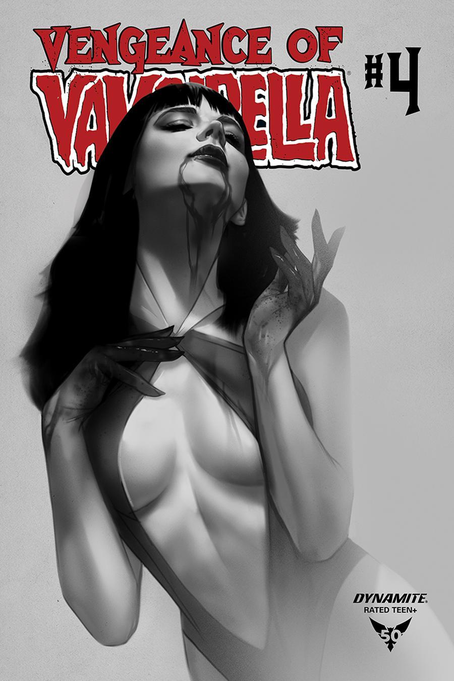 Vengeance Of Vampirella Vol 2 #4 Cover M Incentive Ben Oliver Black & White Cover
