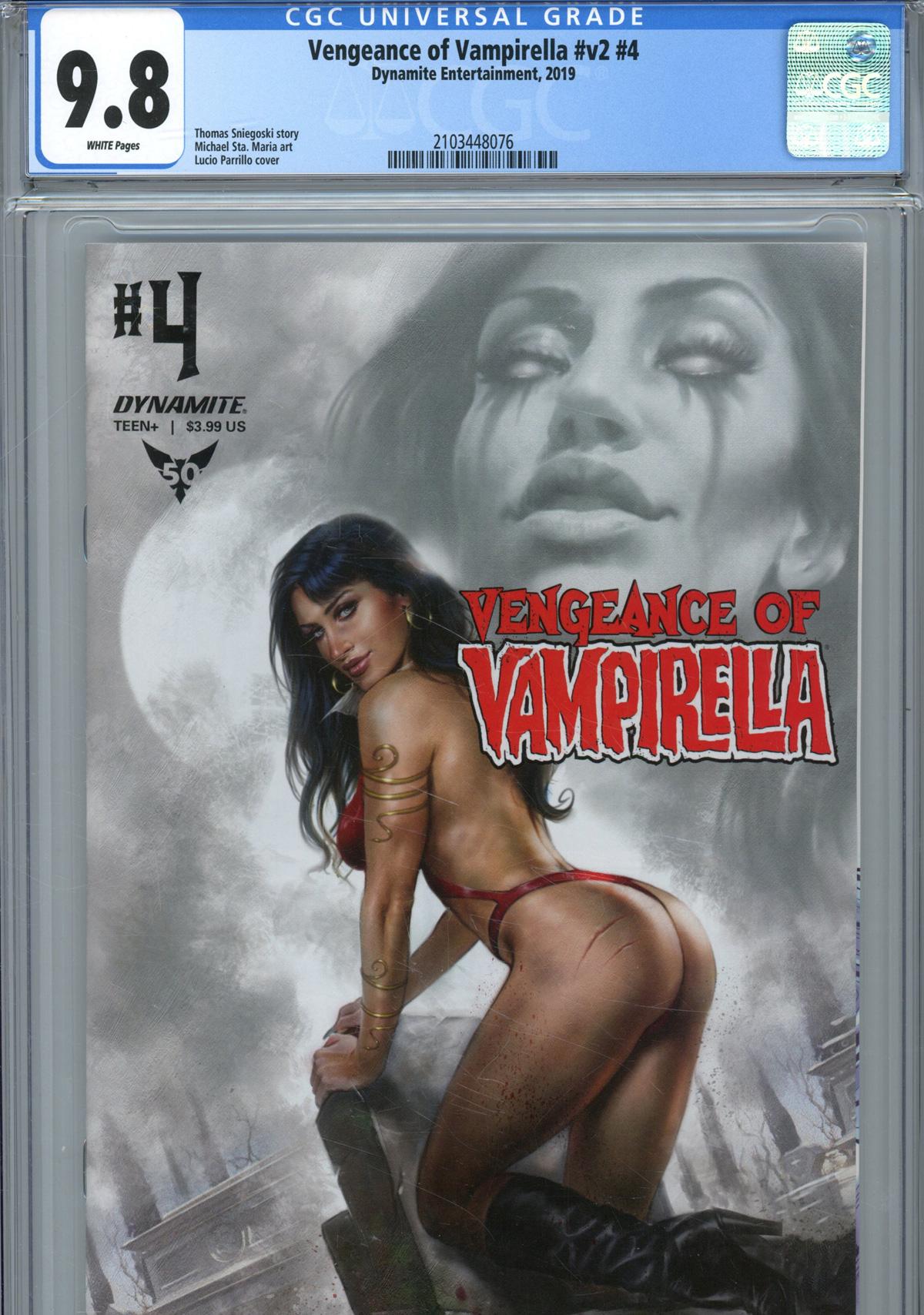 Vengeance Of Vampirella Vol 2 #4 Cover R Regular Lucio Parrillo Cover CGC Graded