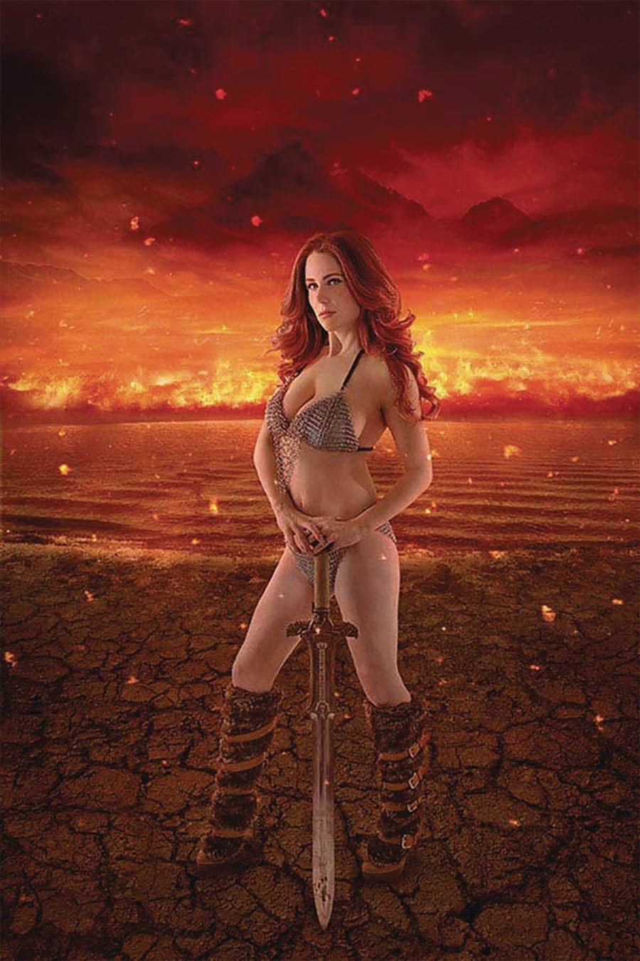 Red Sonja Age Of Chaos #1 Cover X Variant Shannon Kingston Cosplay Photo Cover Signed