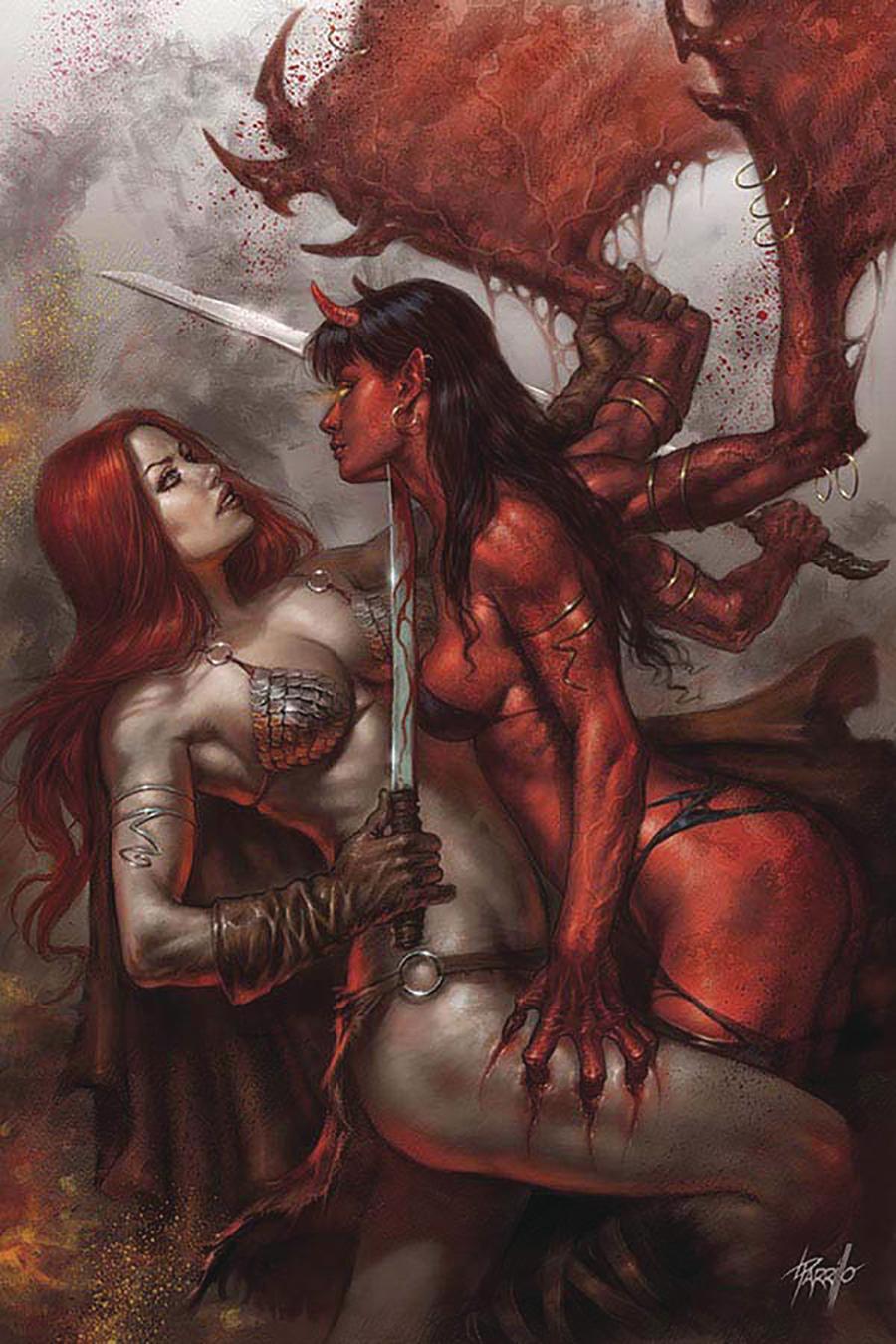 Red Sonja Age Of Chaos #1 Cover Z Limited Edition Lucio Parrillo Virgin Cover