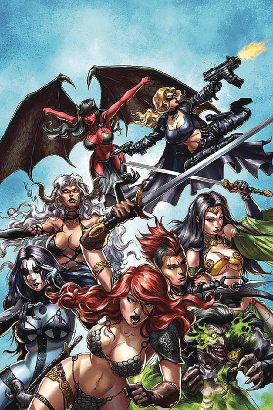 Red Sonja Age Of Chaos #1 Cover Z-B Limited Edition Alan Quah Virgin Cover